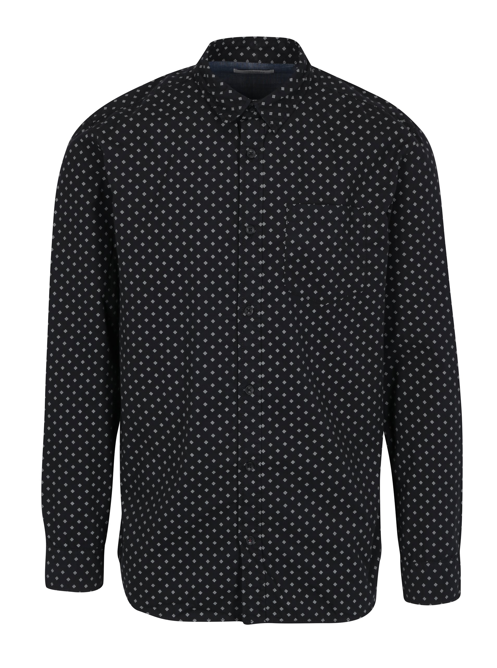 Černá vzorovaná košile Jack & Jones Originals Simon
