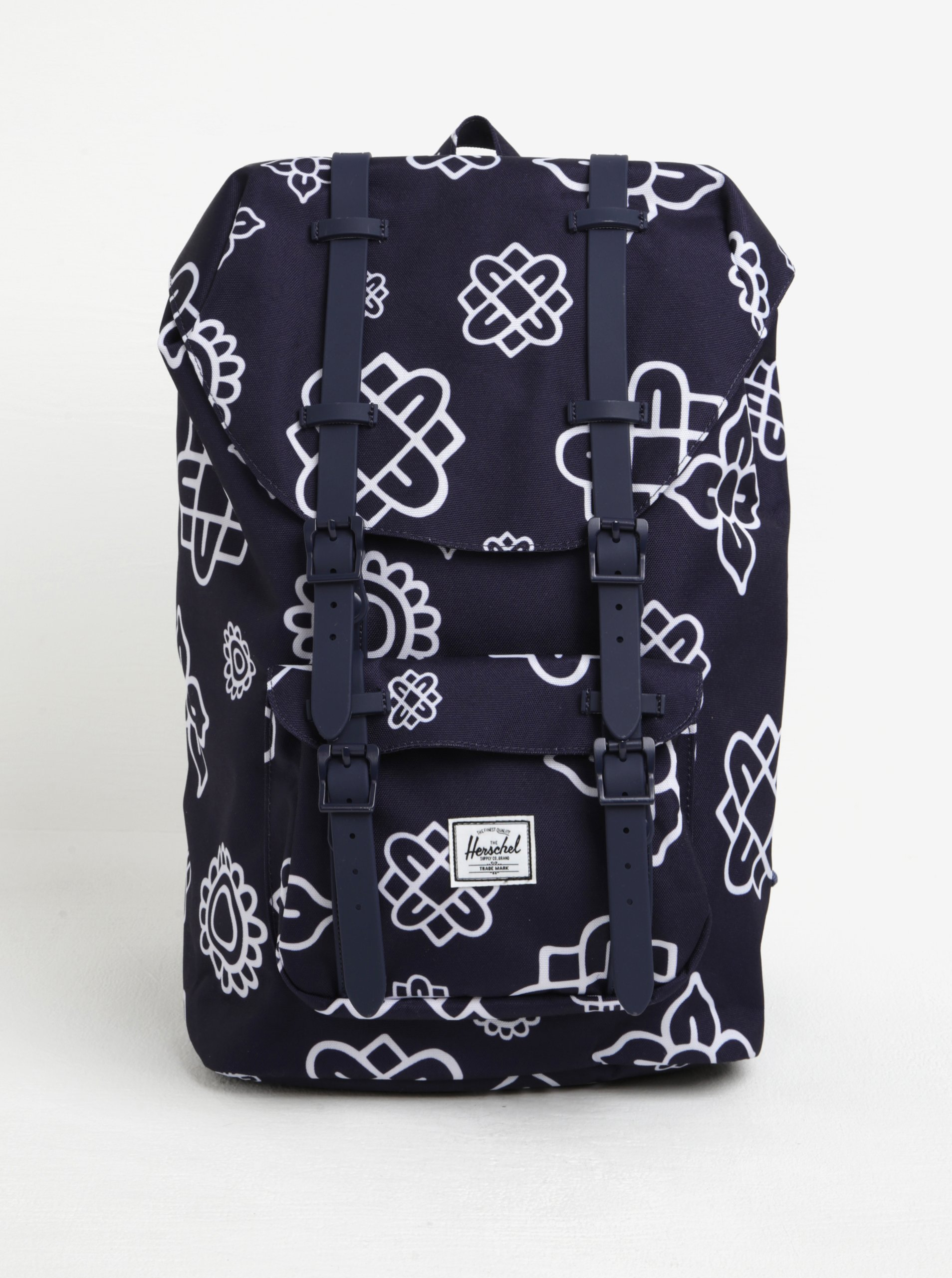 Tmavě modrý vzorovaný batoh Herschel Little America 17 l