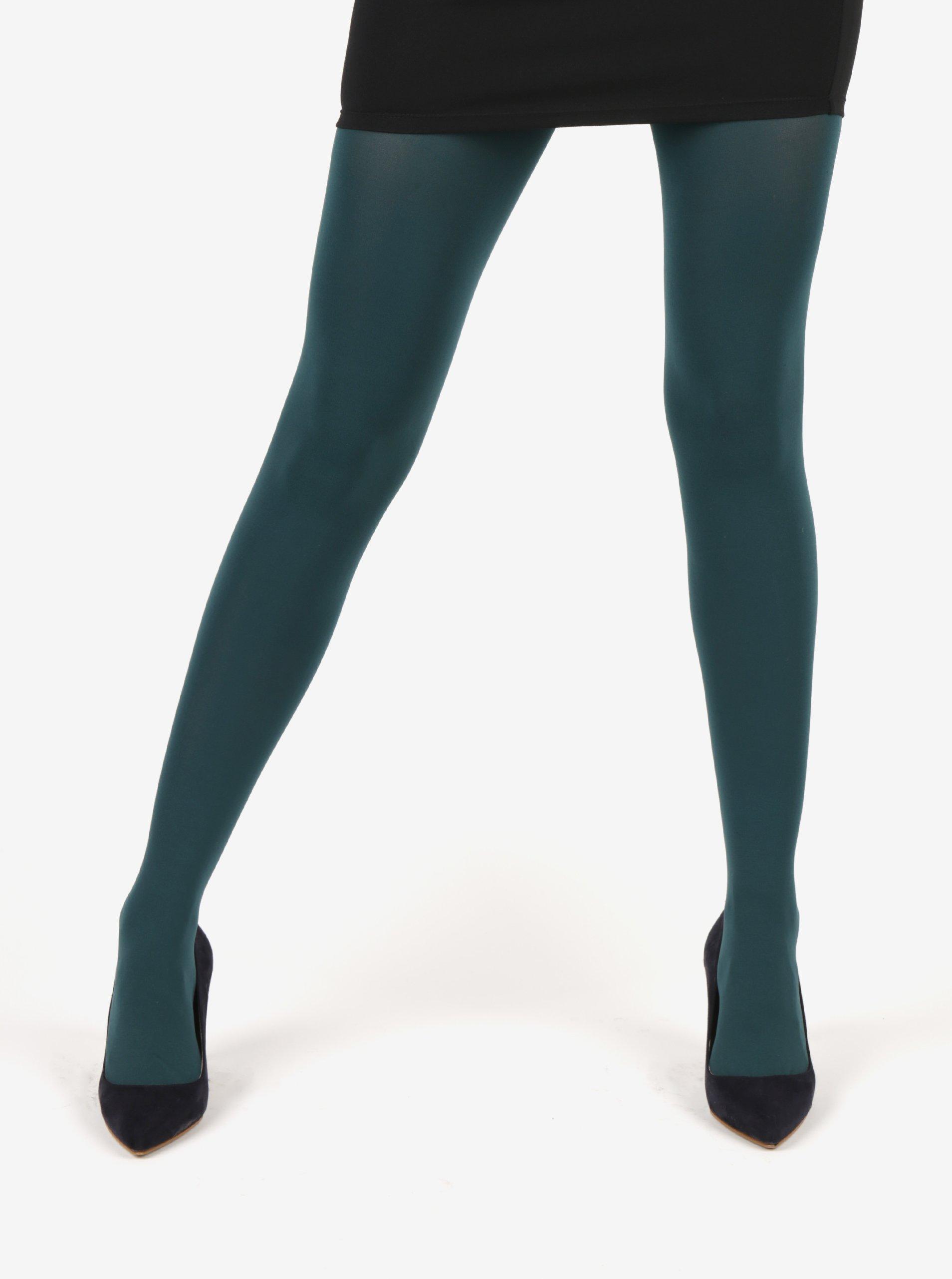 Petrolejové punčochové kalhoty Gipsy