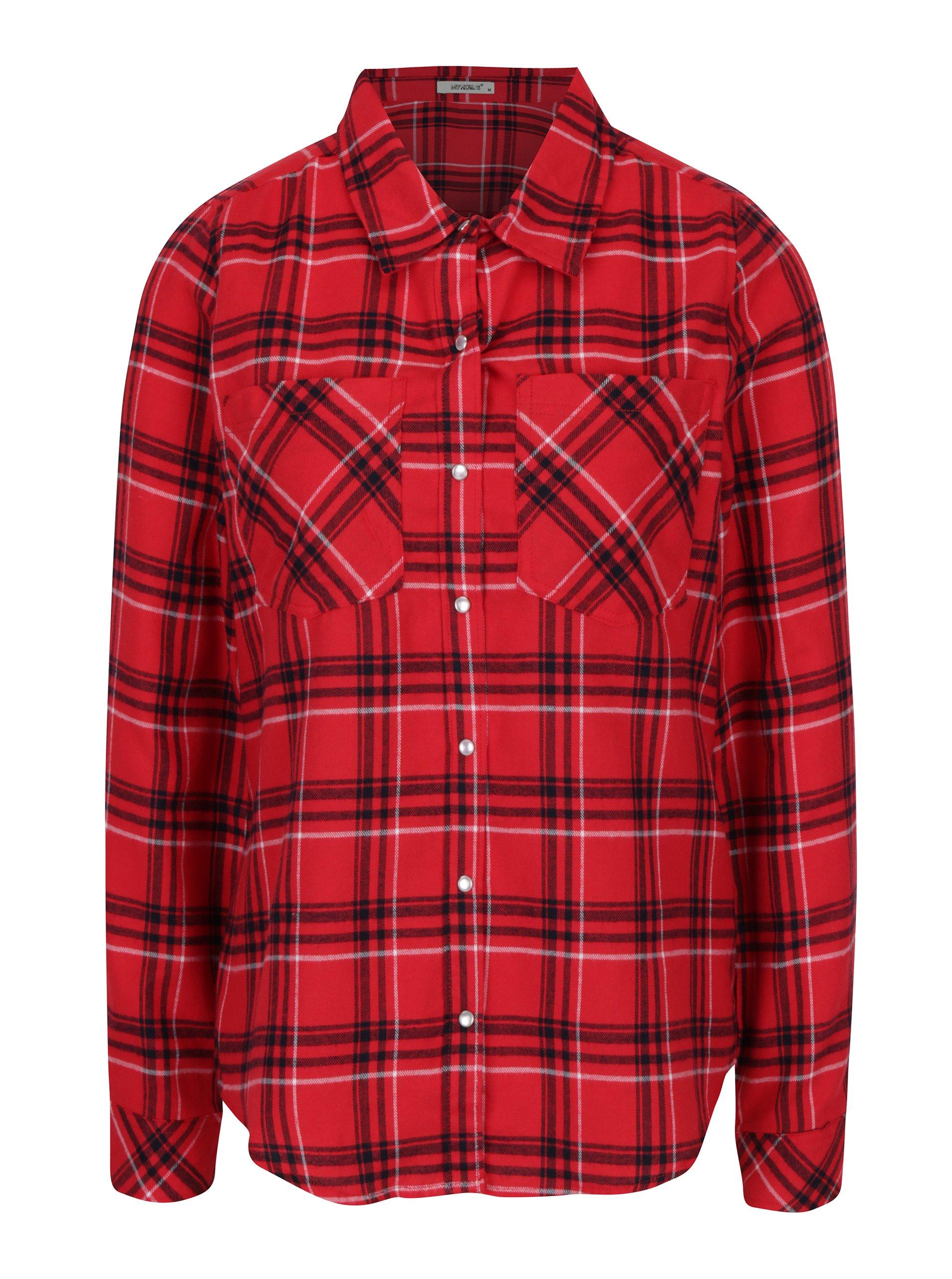 Červená kostkovaná košile Haily´s Tabea