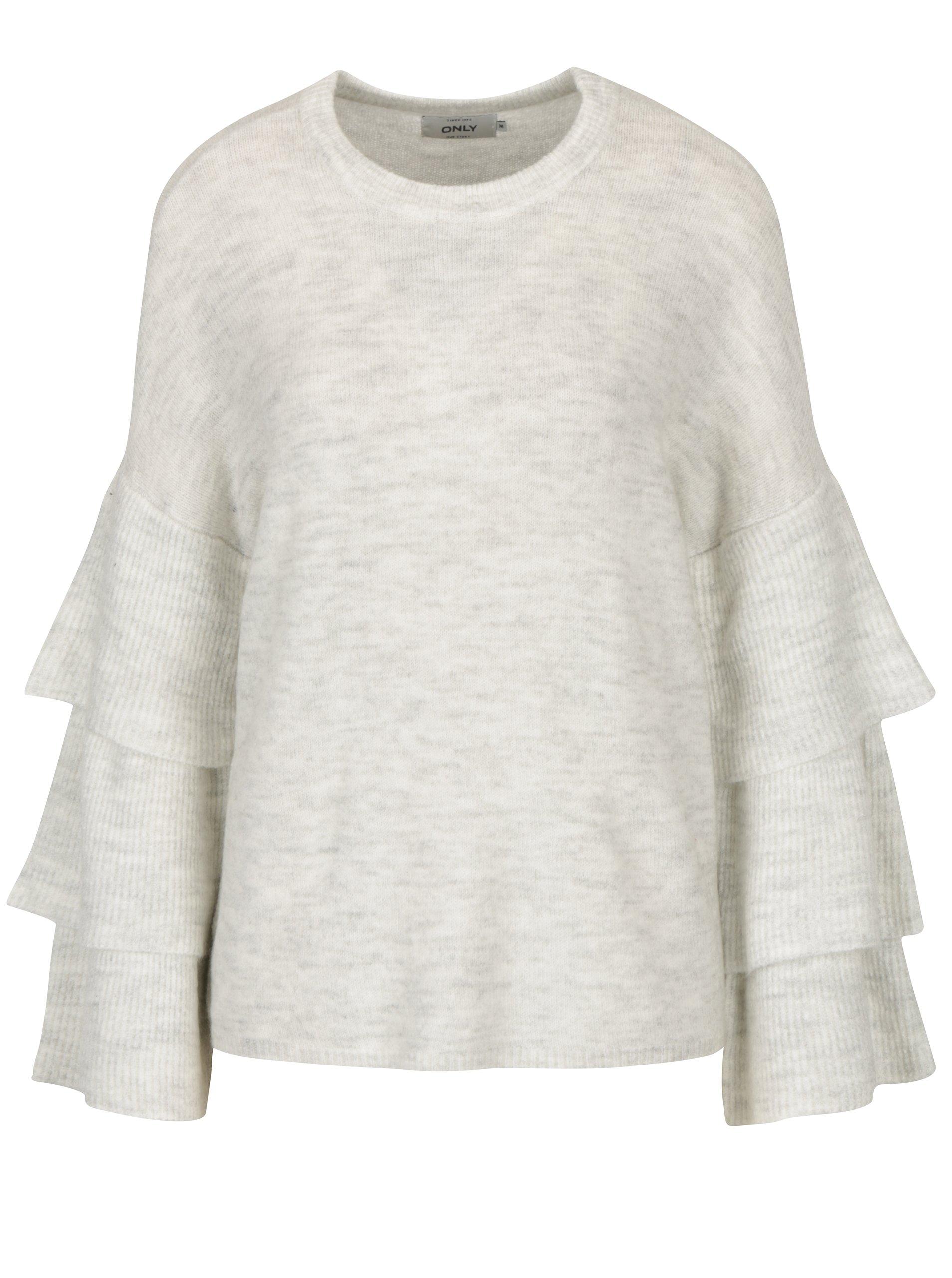 Krémový žíhaný svetr s volány ONLY Flower. Sdílejte. Magazín módy ... f97c45d647