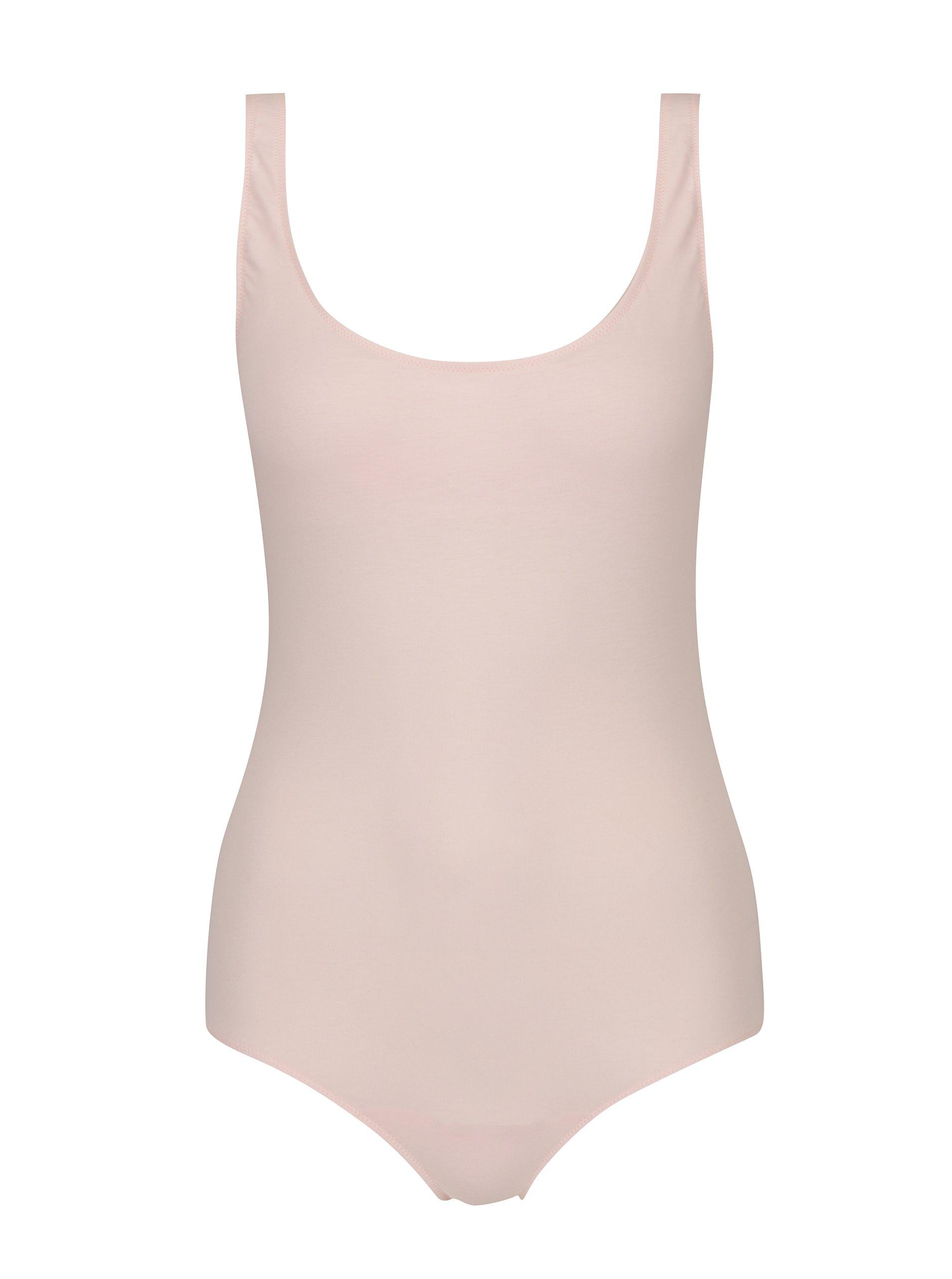 Světle růžové body Nalu Underwear