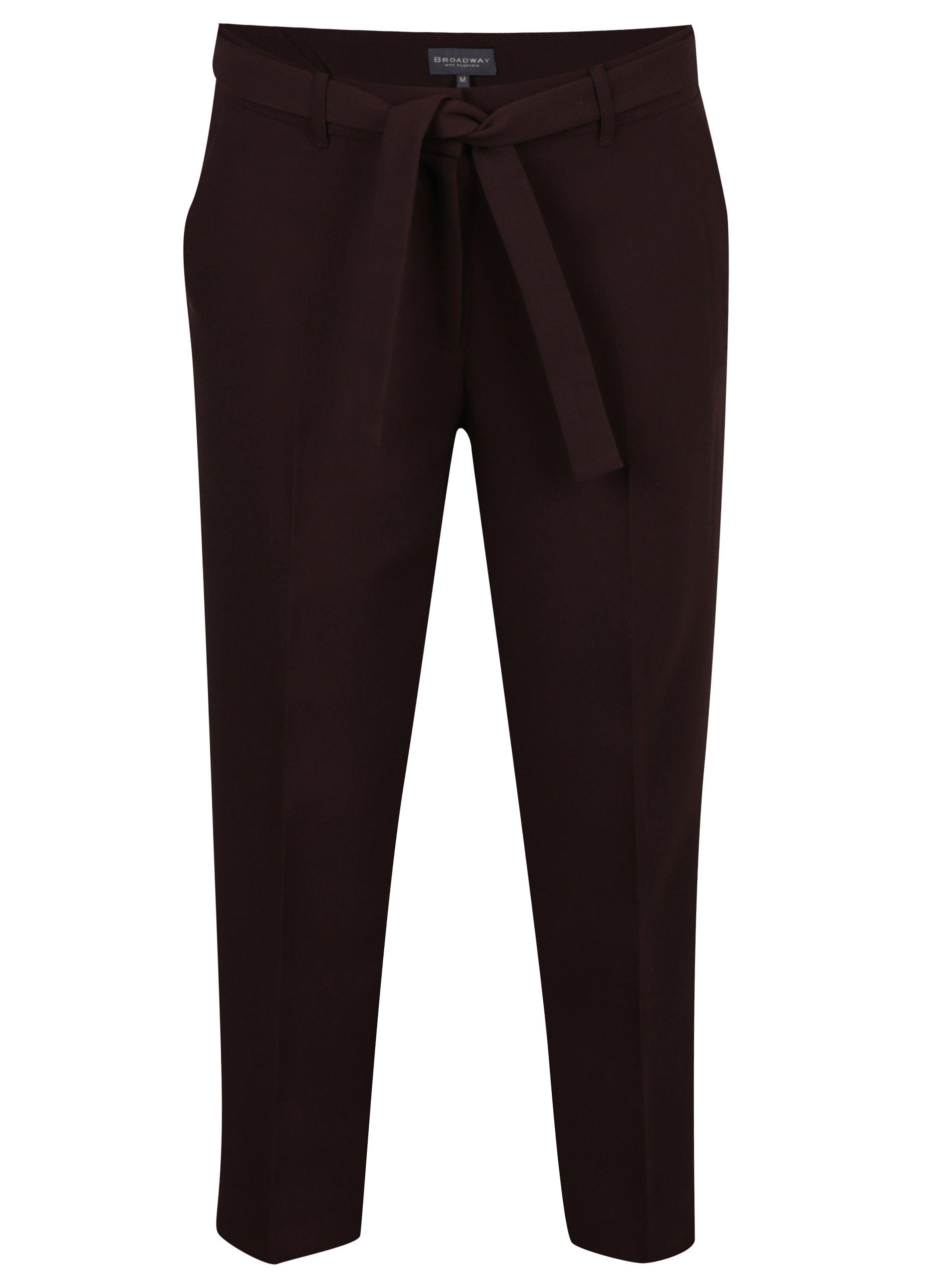Tmavě vínové dámské kalhoty Broadway Naiara