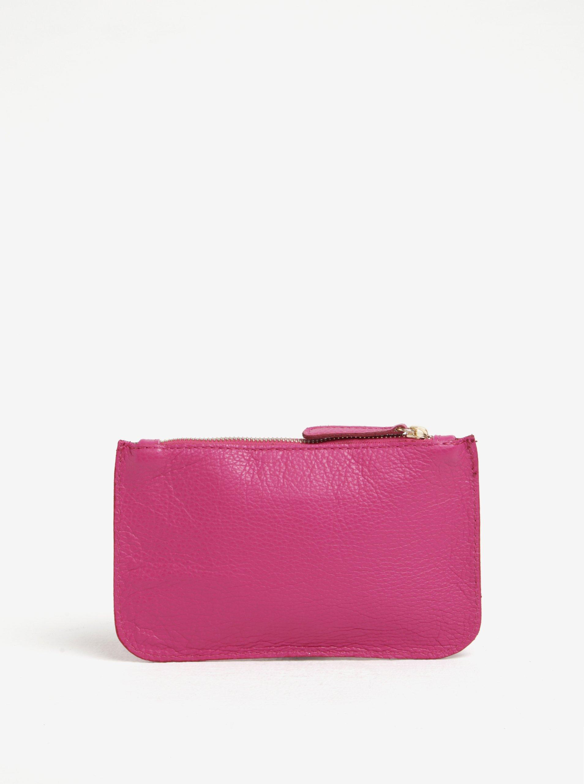 Růžová kožená kosmetická taštička ZOOT