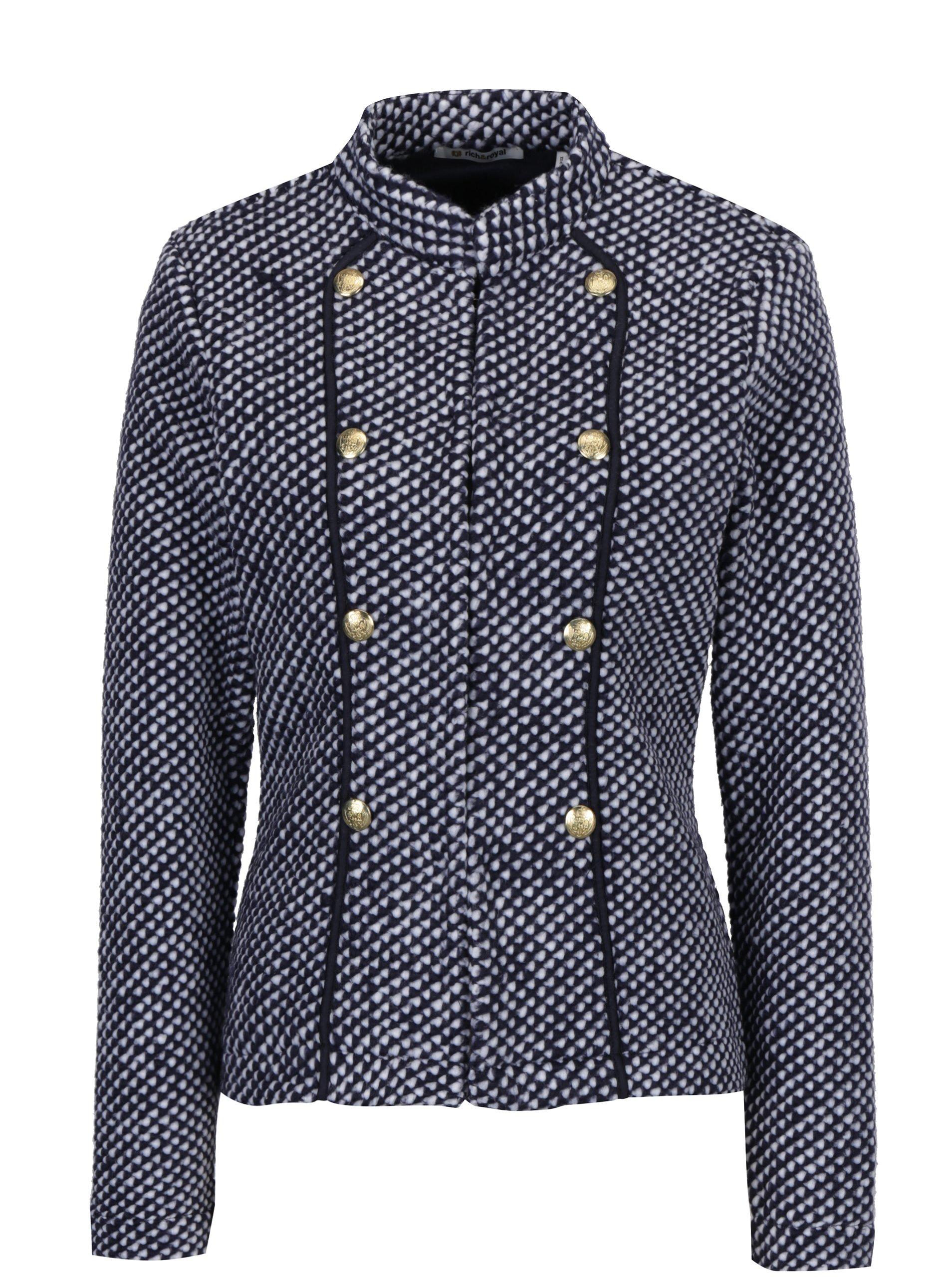 Modrý krátky kabát Rich   Royal cb5c7d88f9d