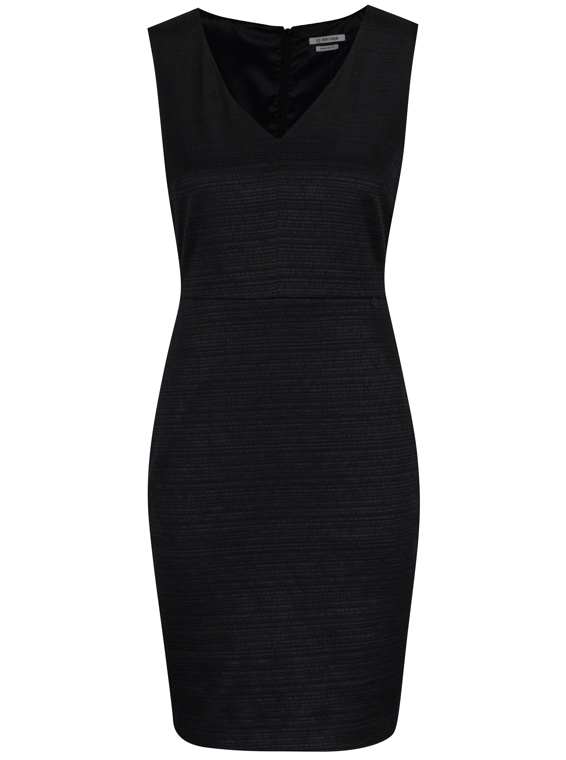 Černé pouzdrové šaty Rich & Royal