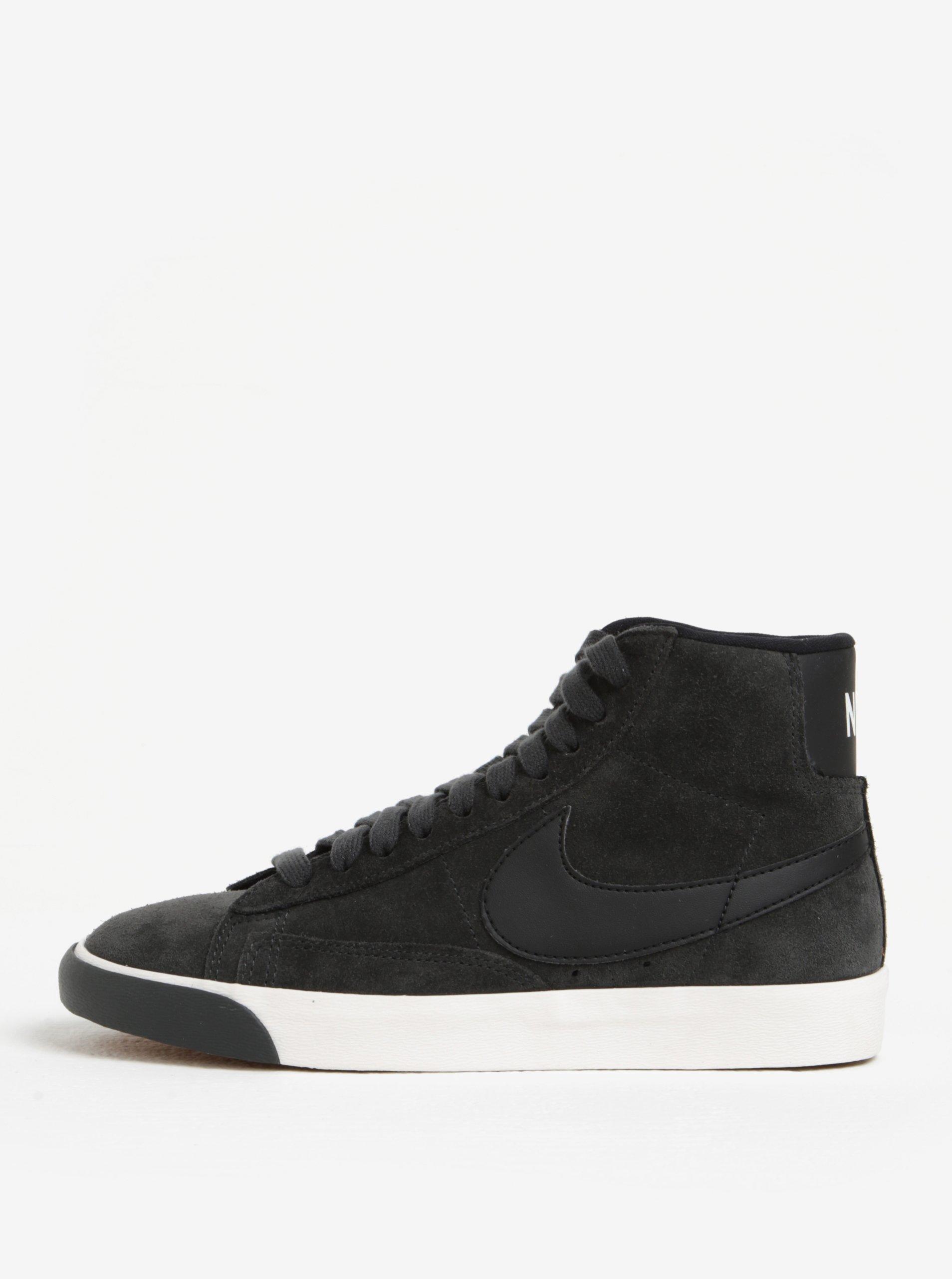 Tmavě šedé dámské tenisky Nike Blazer Mid