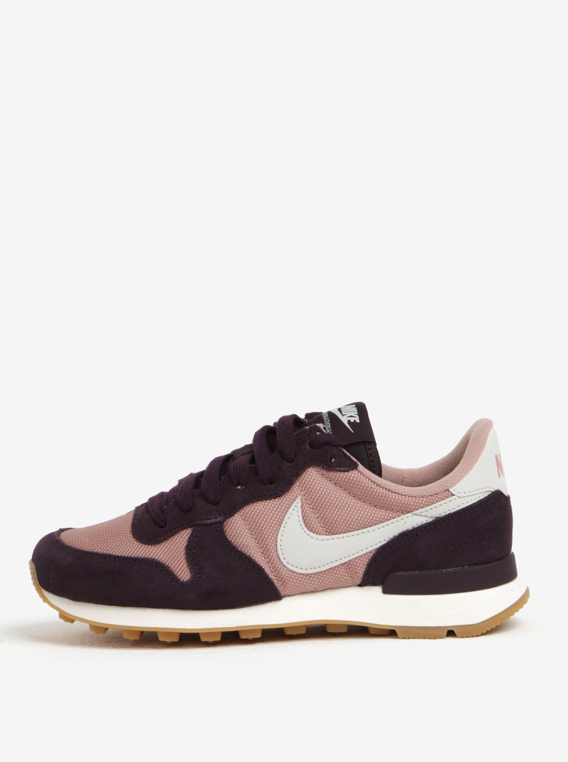 Fialovo-růžové dámské tenisky Nike Internationalist