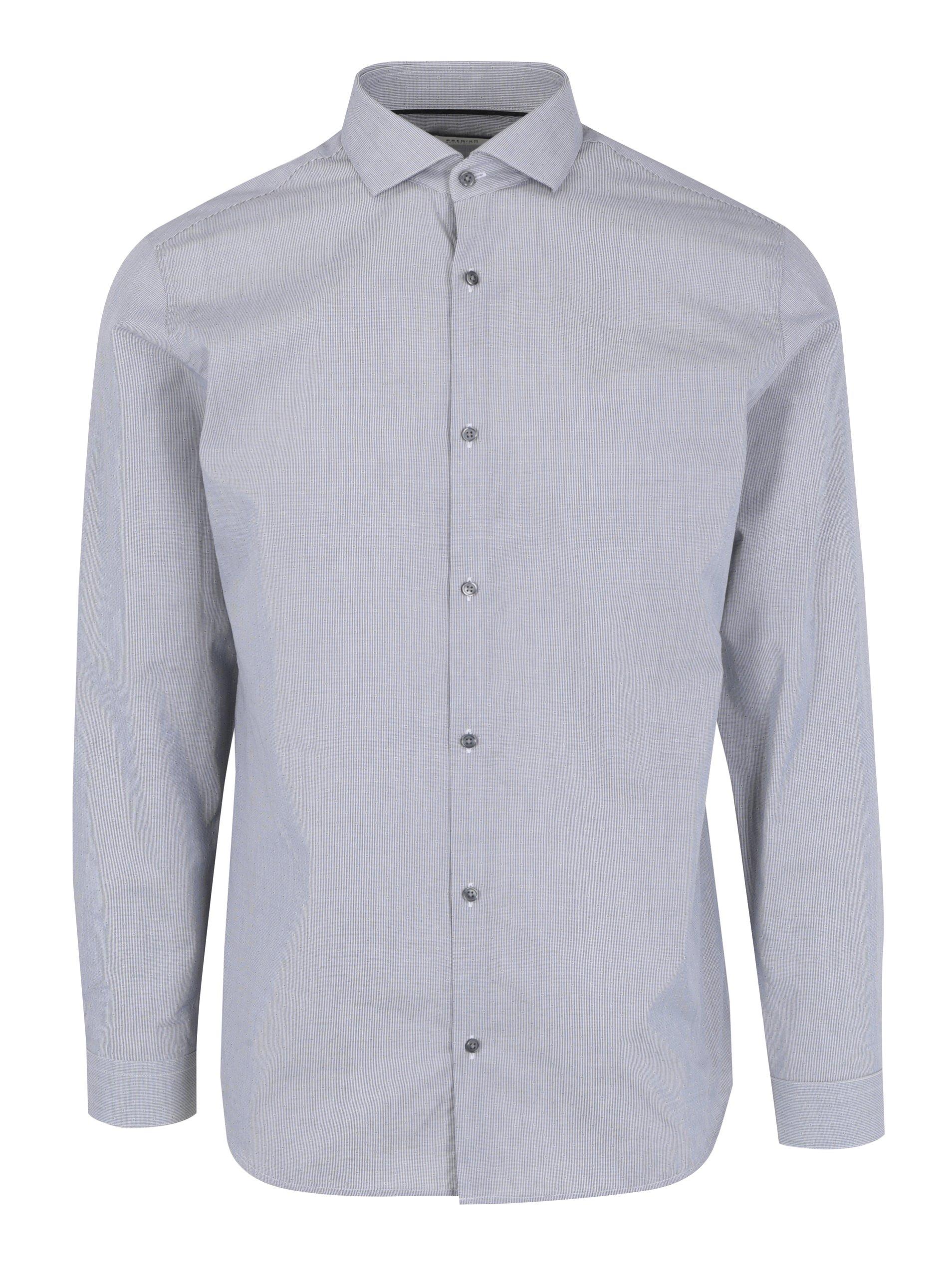 Šedá slim fit košile Jack & Jones Premium Salvador