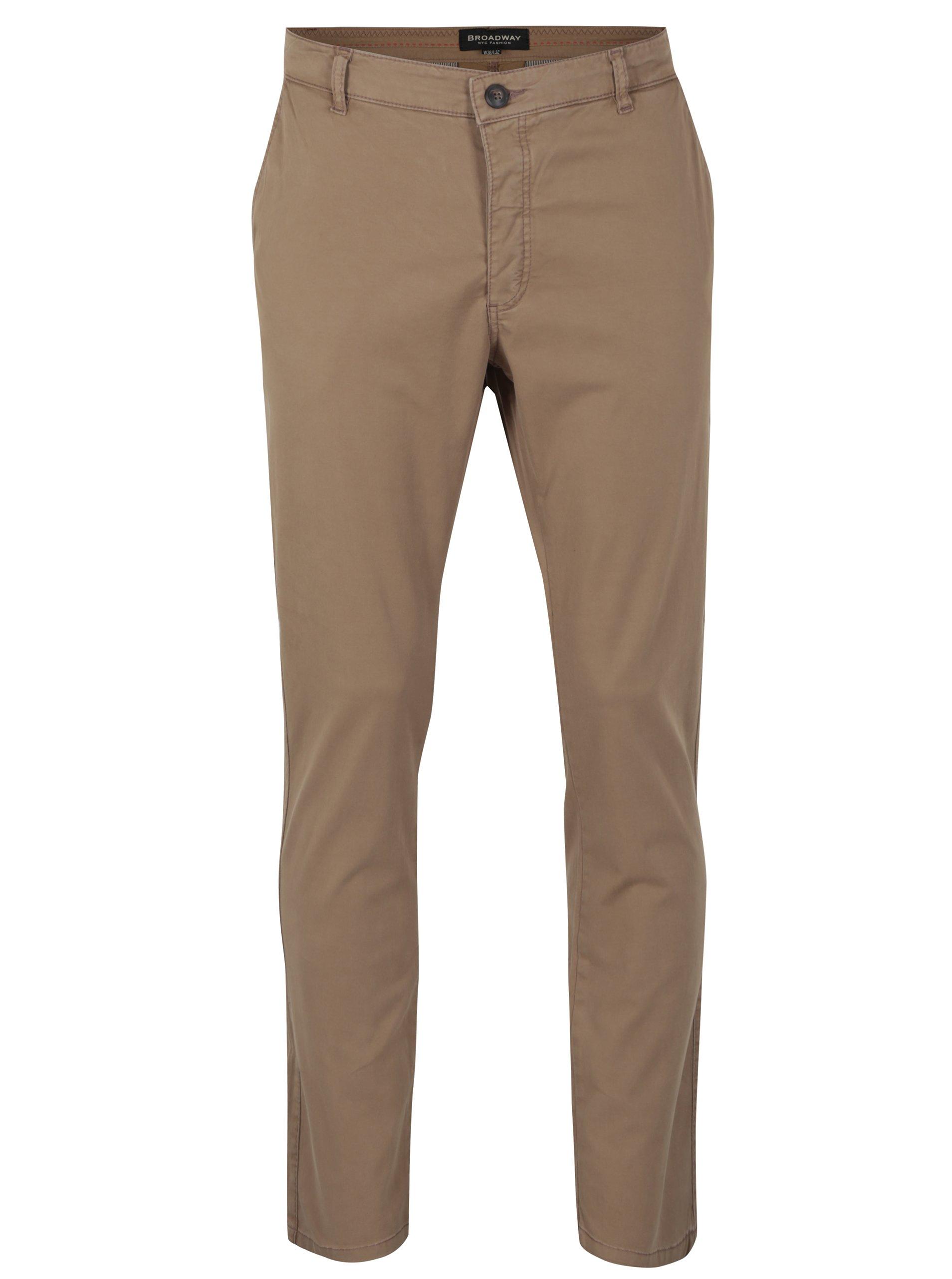 Světle hnědé pánské chino kalhoty Broadway Wayne