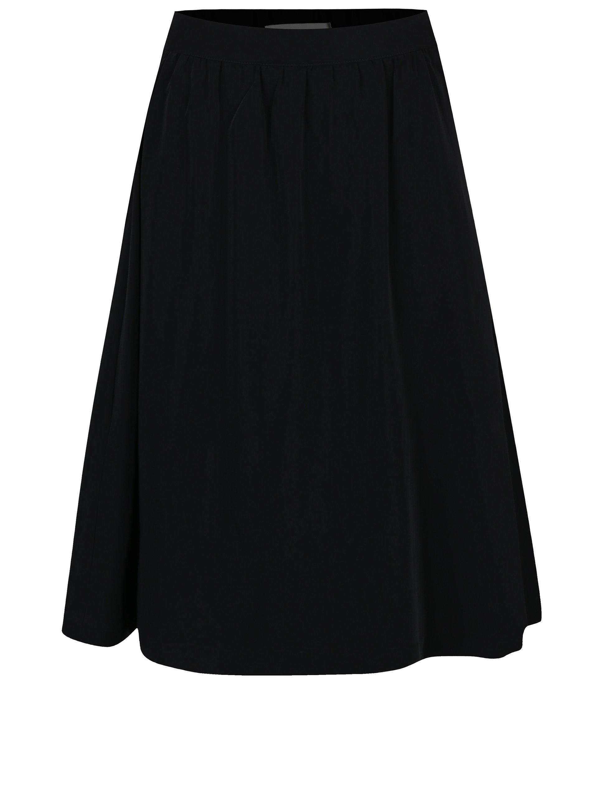 Černá zavinovací sukně Selected Femme Kassia