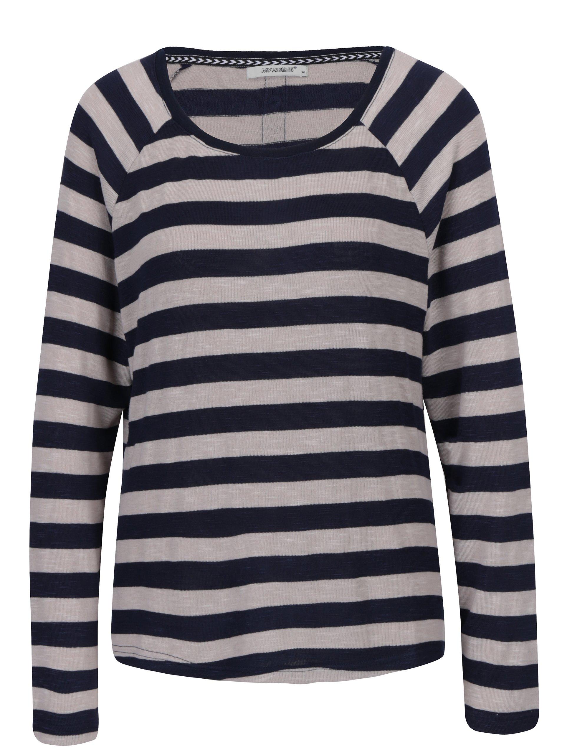 Tmavě modré pruhované tričko Haily´s Tamara
