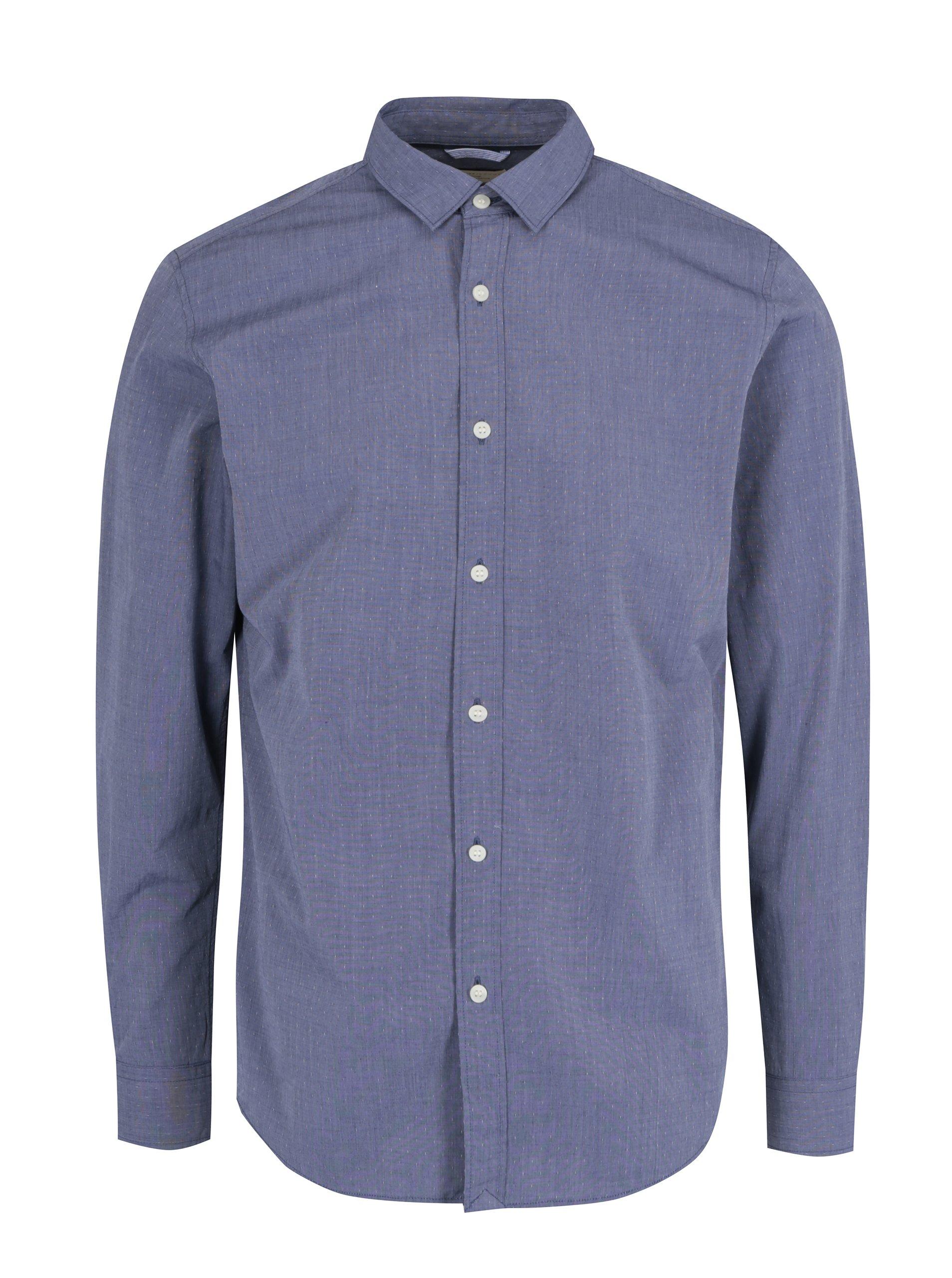 18722aa4648a Modrá formálna slim fit košeľa Selected Homme