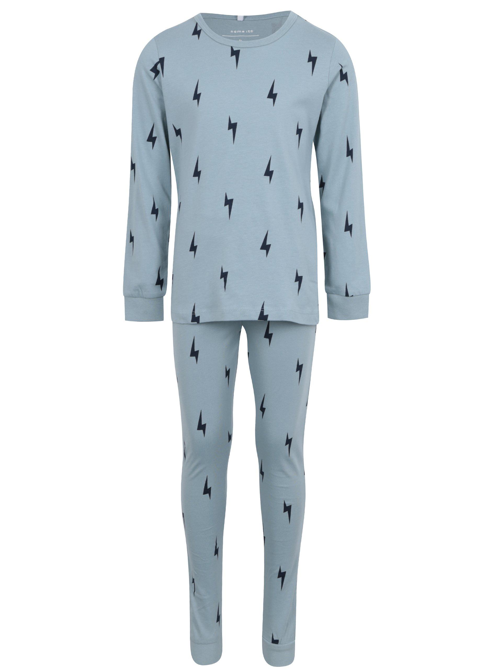 Petrolejové chlapčenské pyžamo s potlačou name it Misto