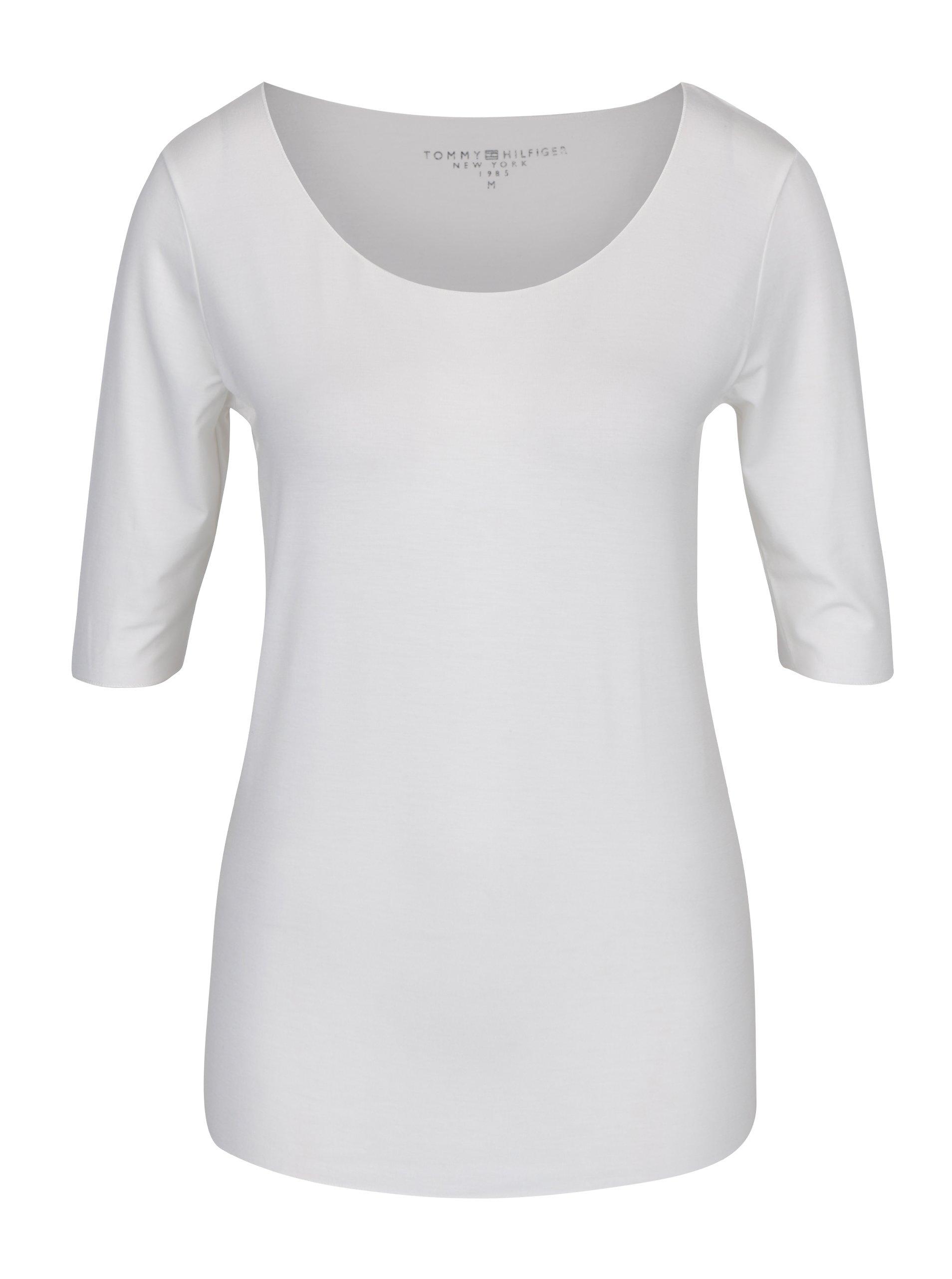 Krémové dámske basic tričko Tommy Hilfiger Jada Ballerina b4e331f5c7a