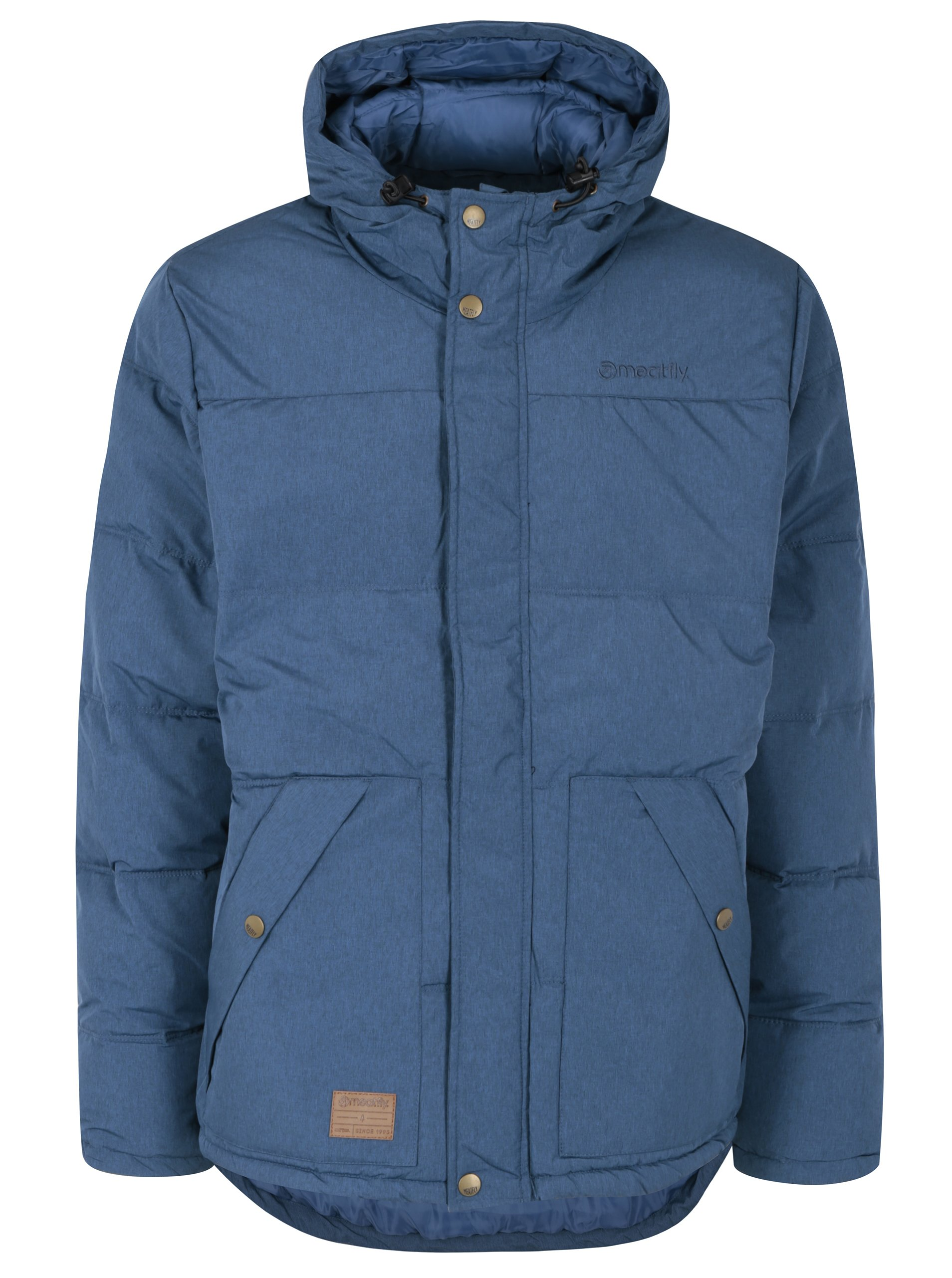 Modrá pánská nepromokavá zimní bunda MEATFLY Chubby 2