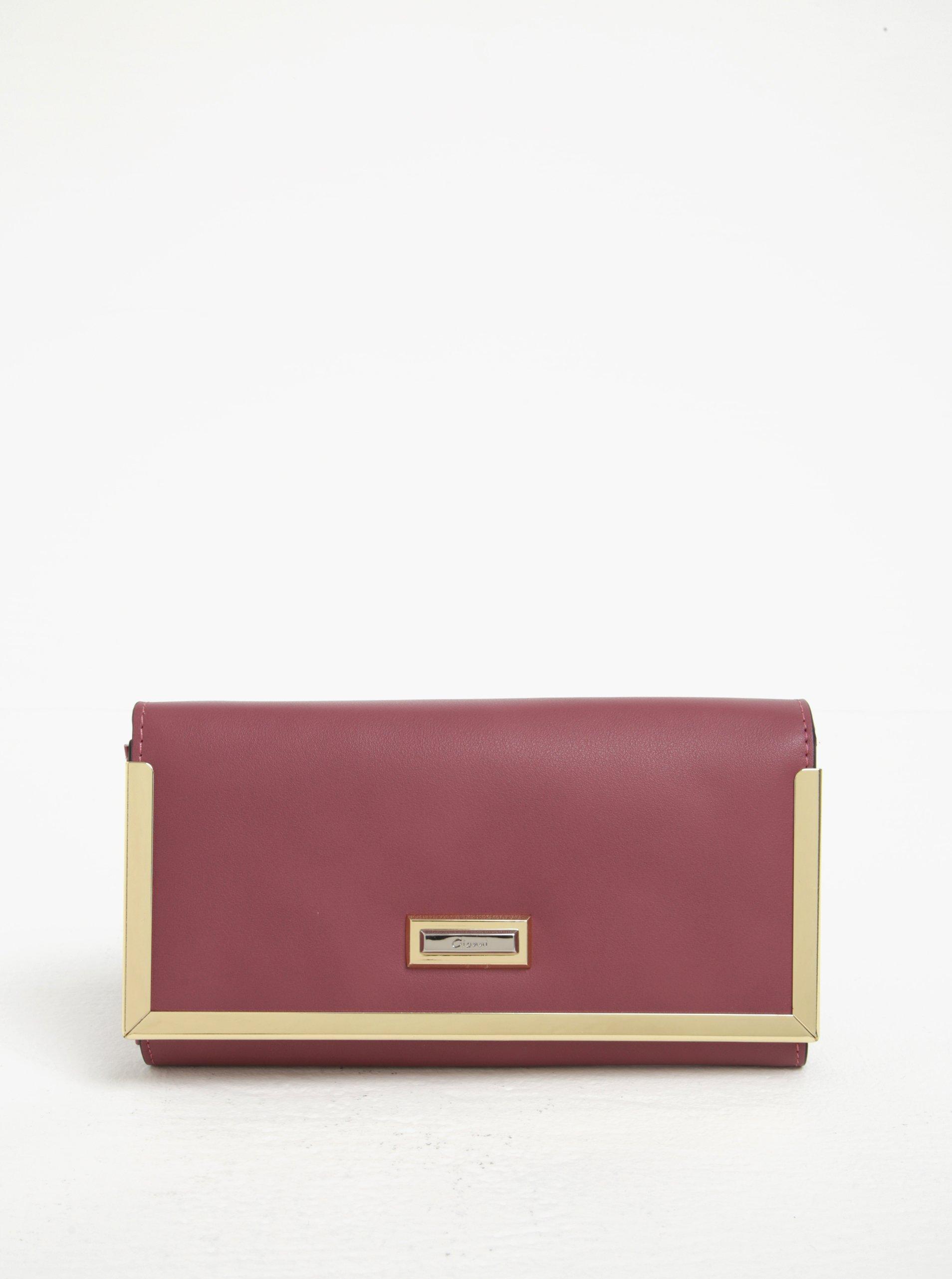 Růžová velká peněženka s detaily ve zlaté barvě Gionni Colette