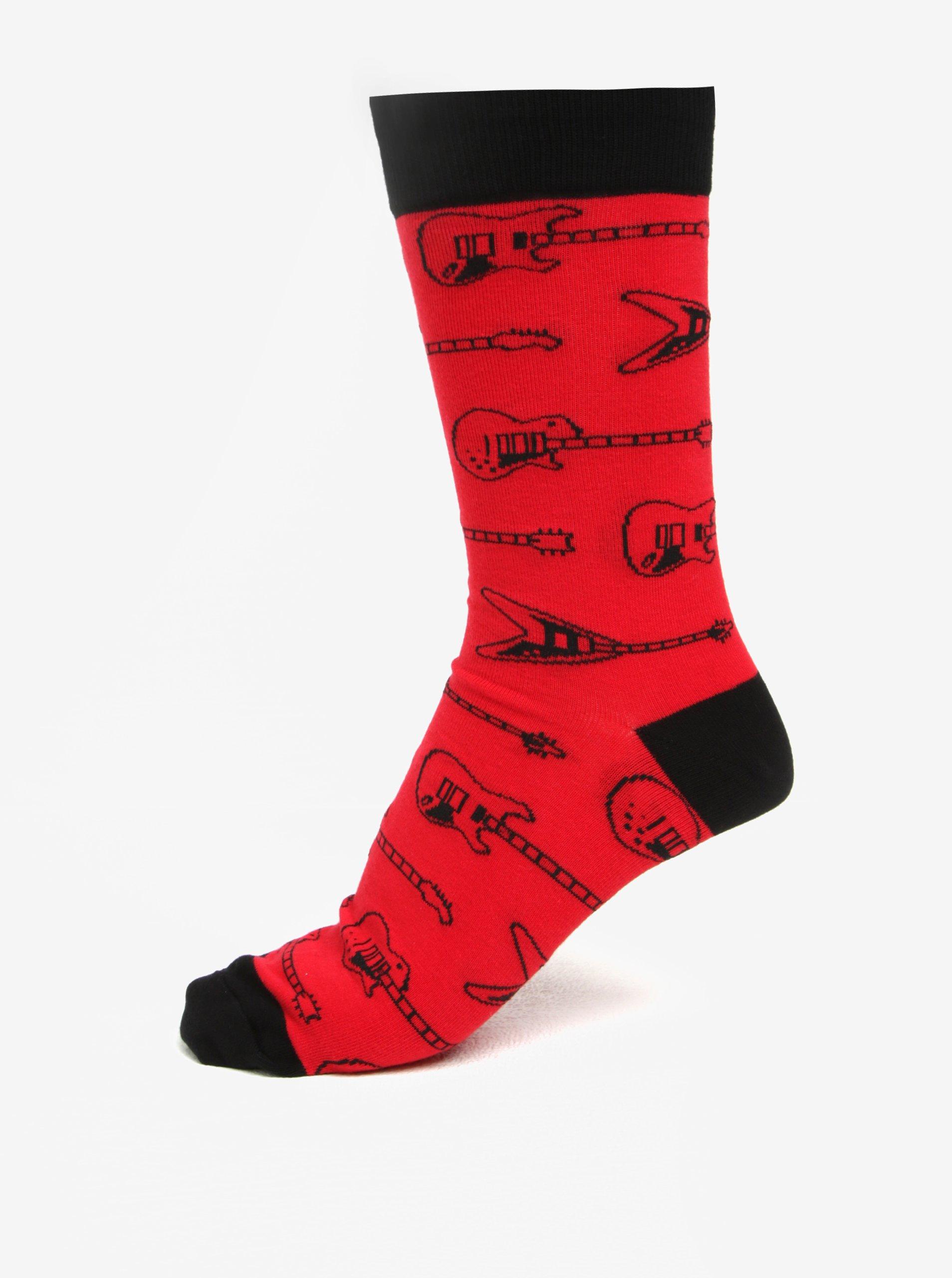 Červené pánské vzorované ponožky Sock It to Me String Theory