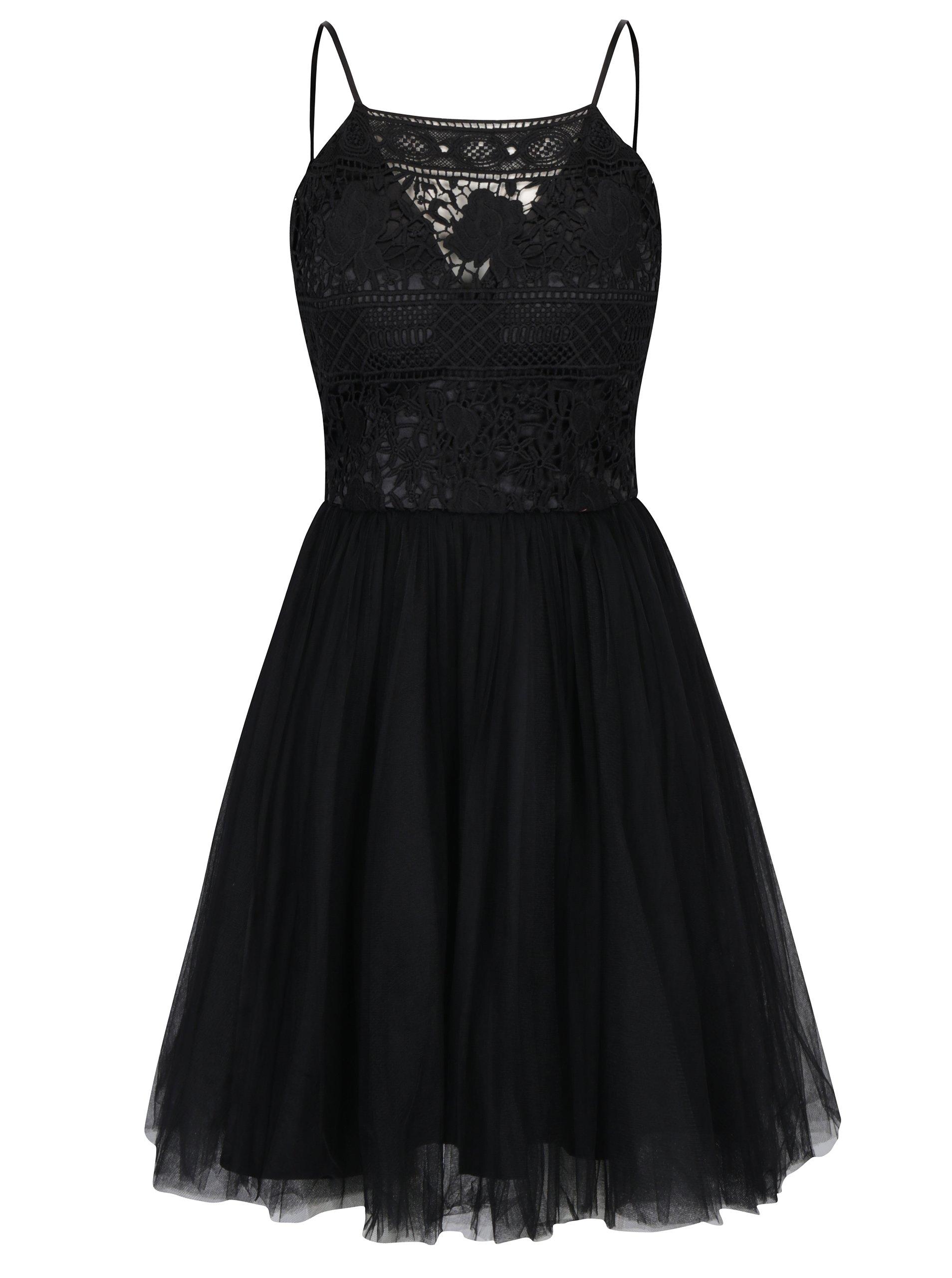 1d560a636951 Čierne šaty s tylovou sukňou Chi Chi London Terrie