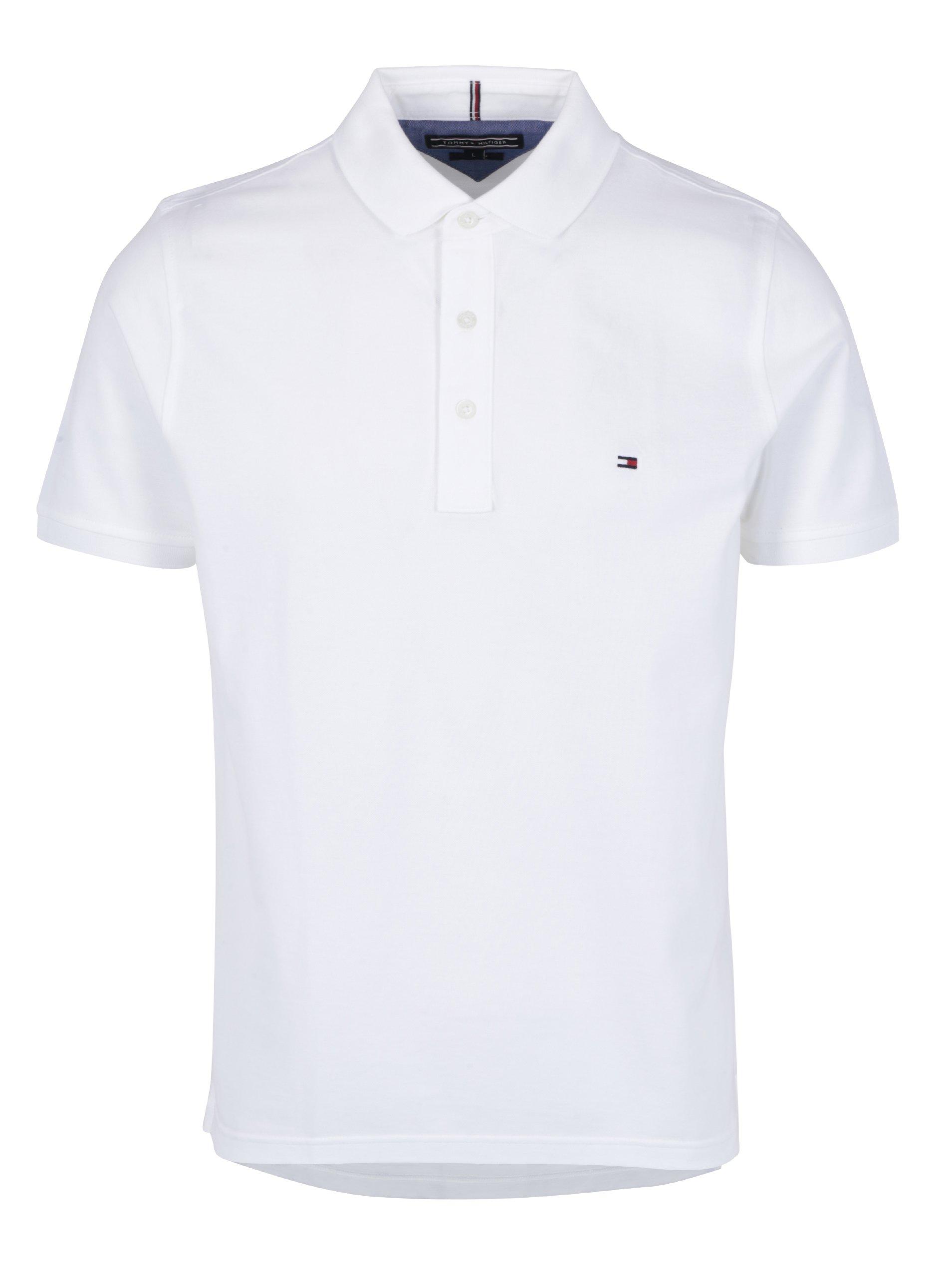 Bílé pánské polo triko Tommy Hilfiger Luxury