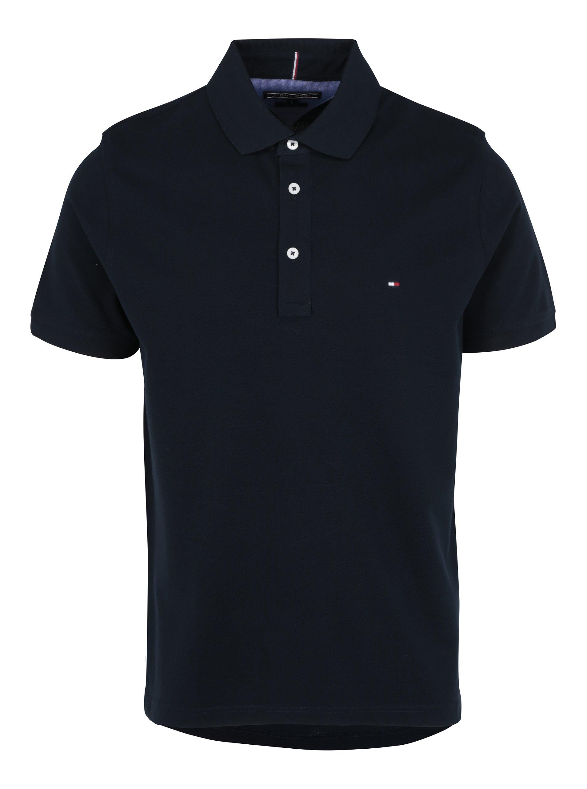 Tmavě modré pánské polo triko Tommy Hilfiger Luxury