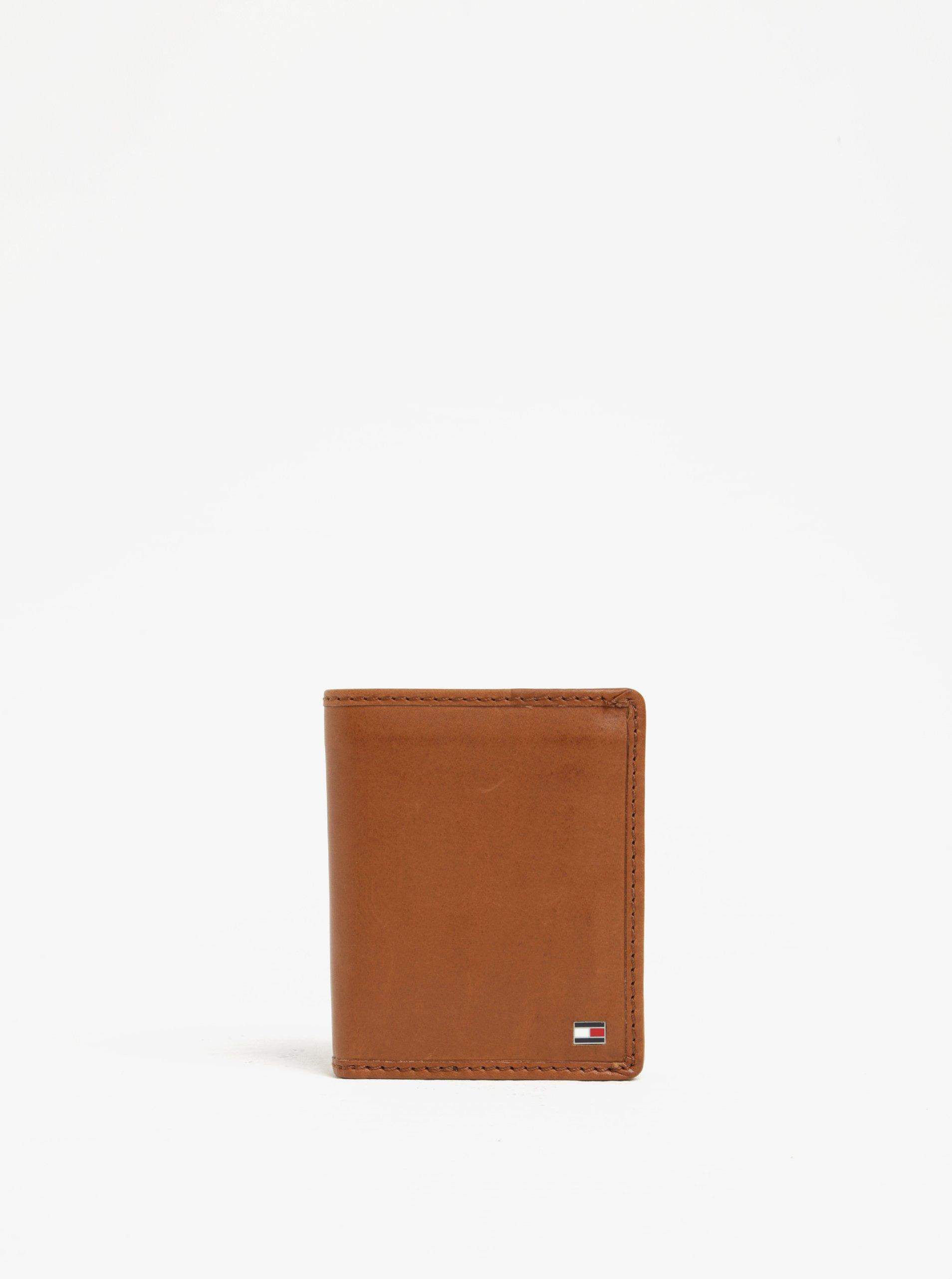 Malá hnědá pánská kožená peněženka Tommy Hilfiger