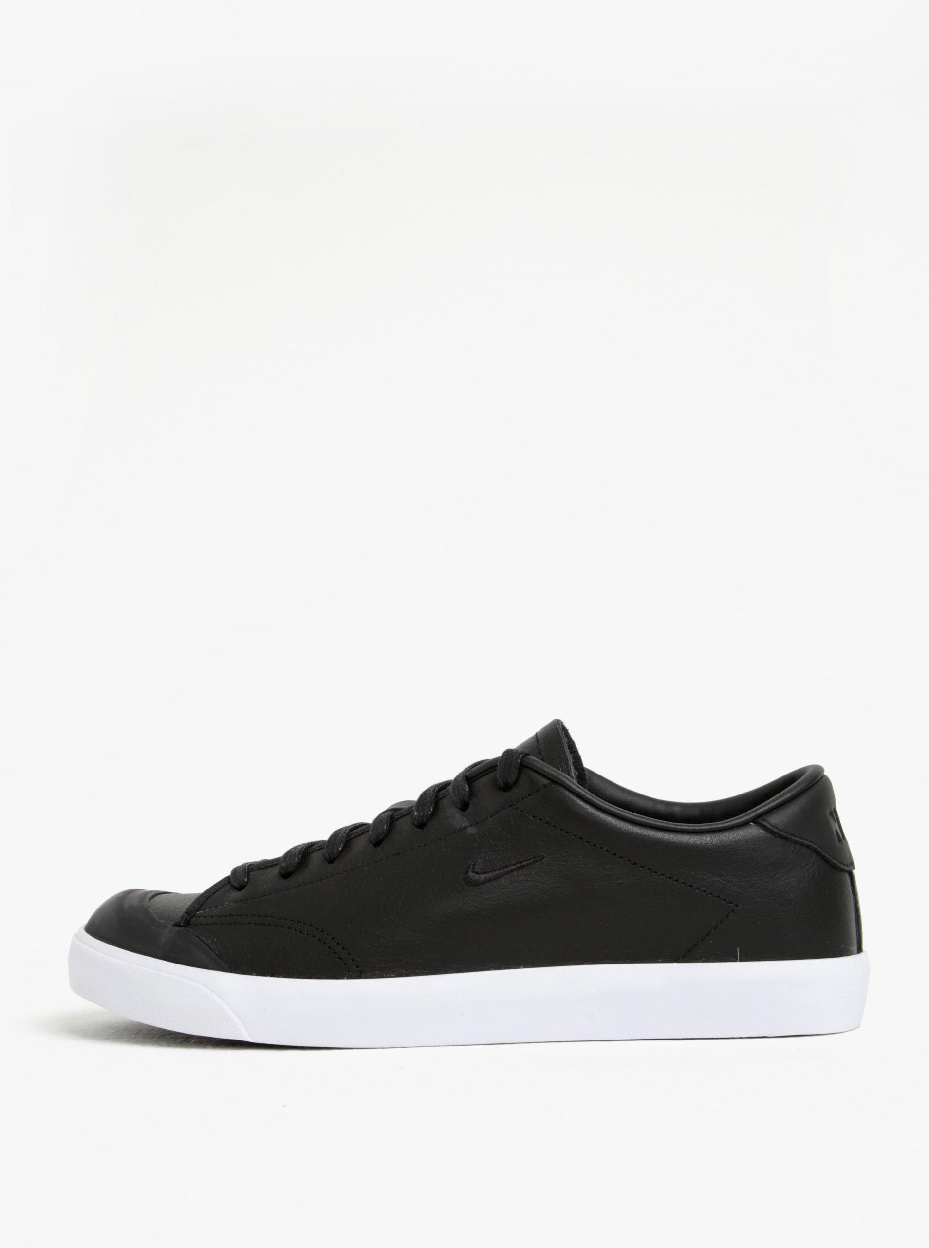 Čierne pánske kožené tenisky Nike All Court 2 Low 99999278dfb