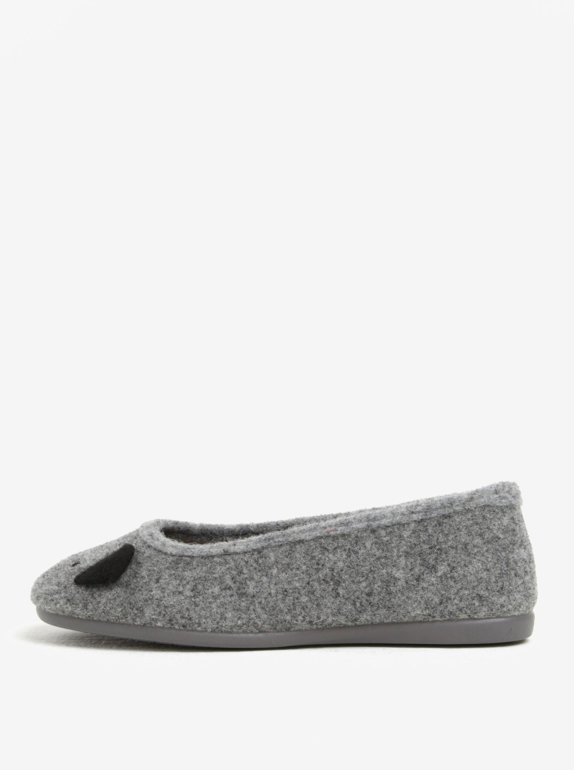 Šedé dámské papuče s motivem koaly OJJU