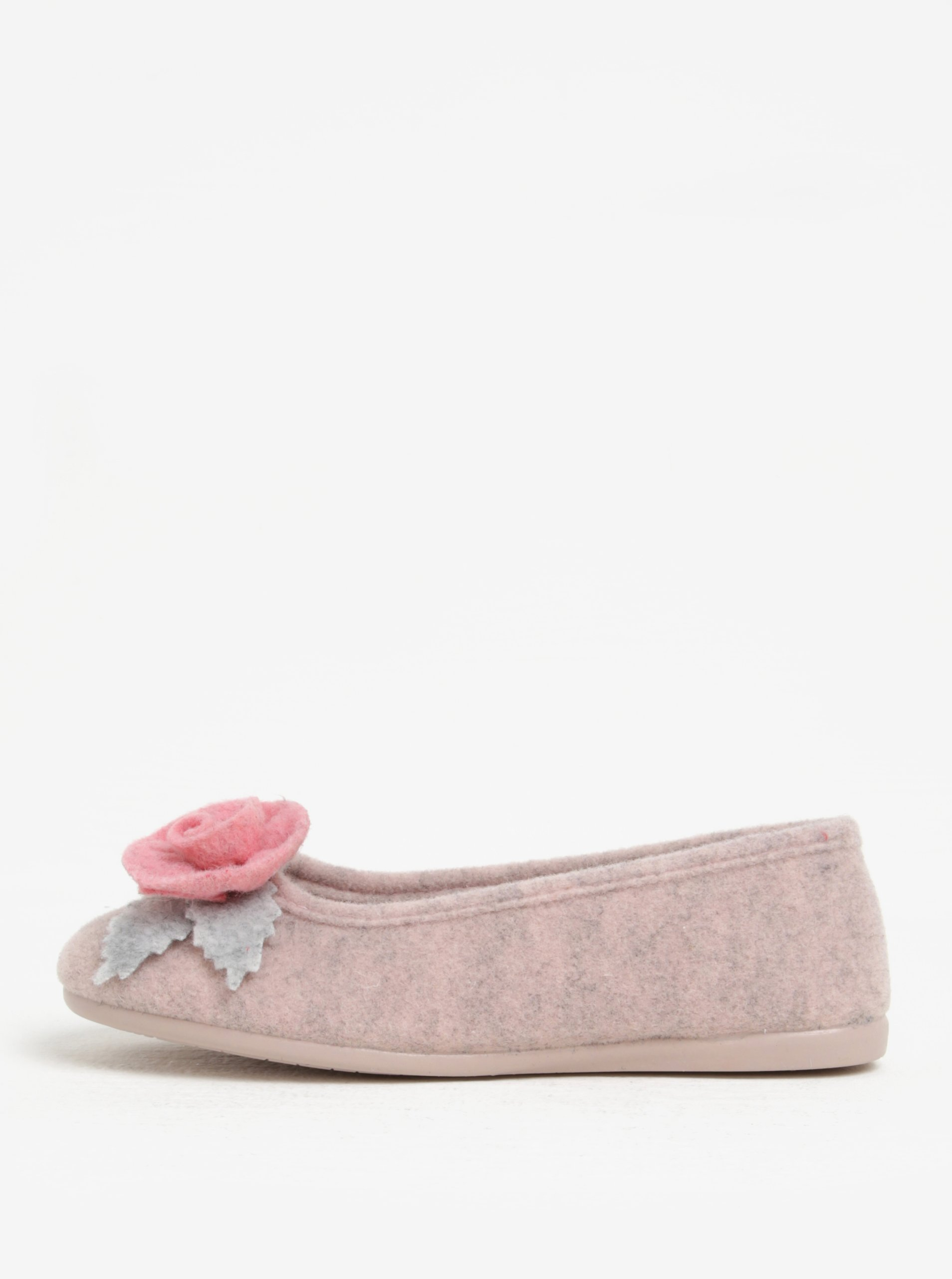 Růžové dámské papuče s aplikací OJJU