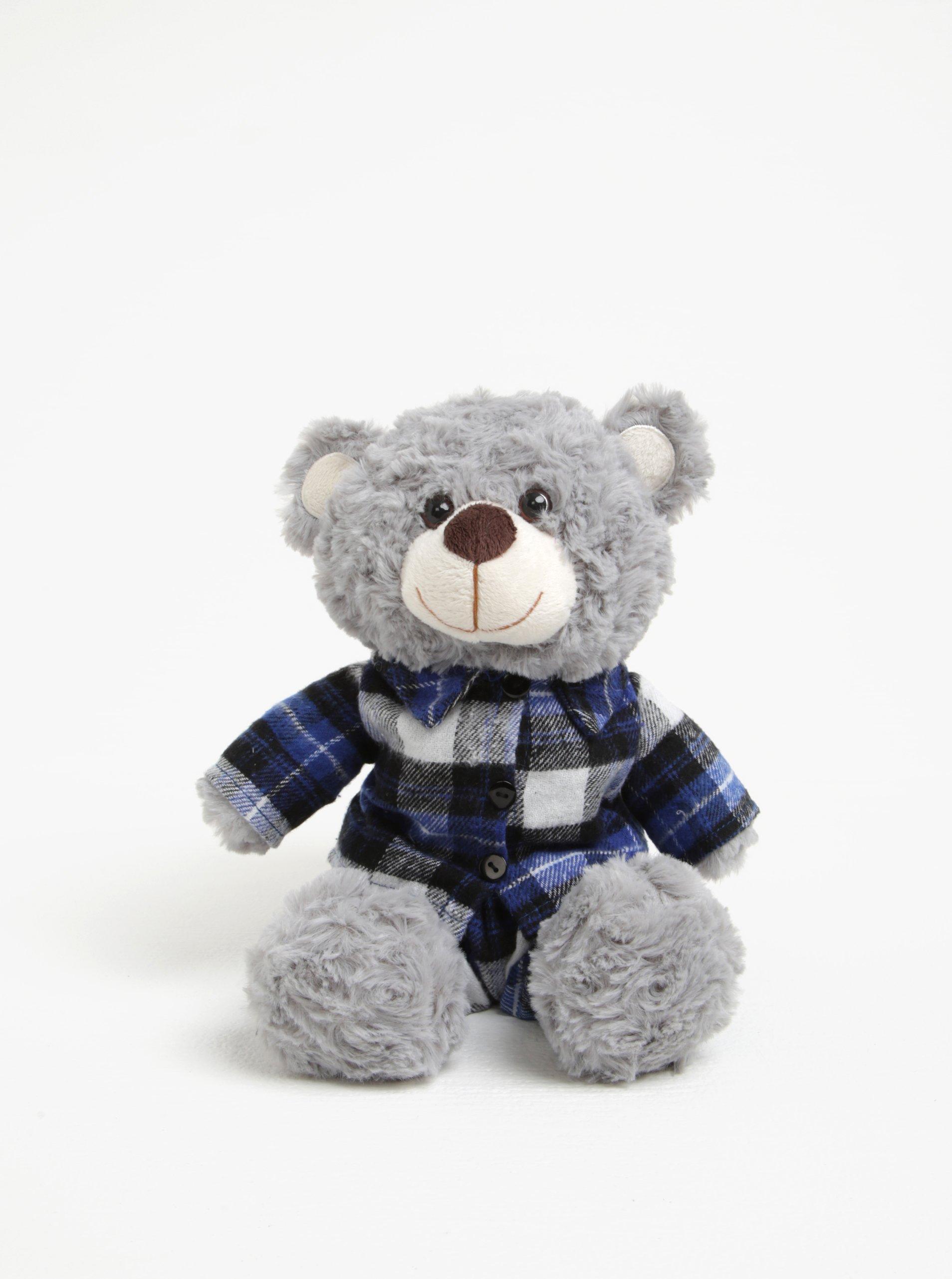 Sivý nahrievací plyšák v tvare medveďa s levanduľovou vôňou Something Special