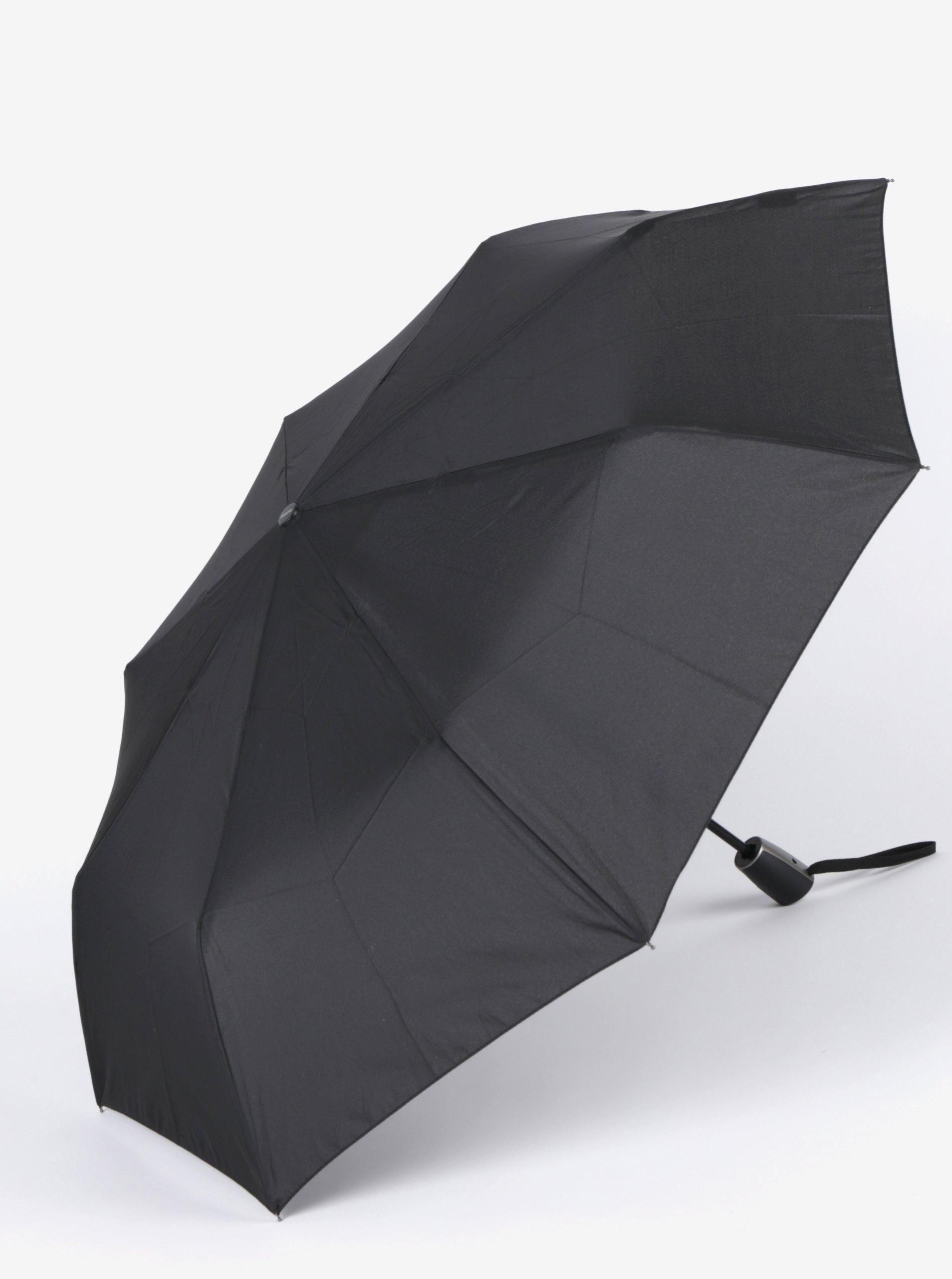 Černý pánský vystřelovací deštník Doppler