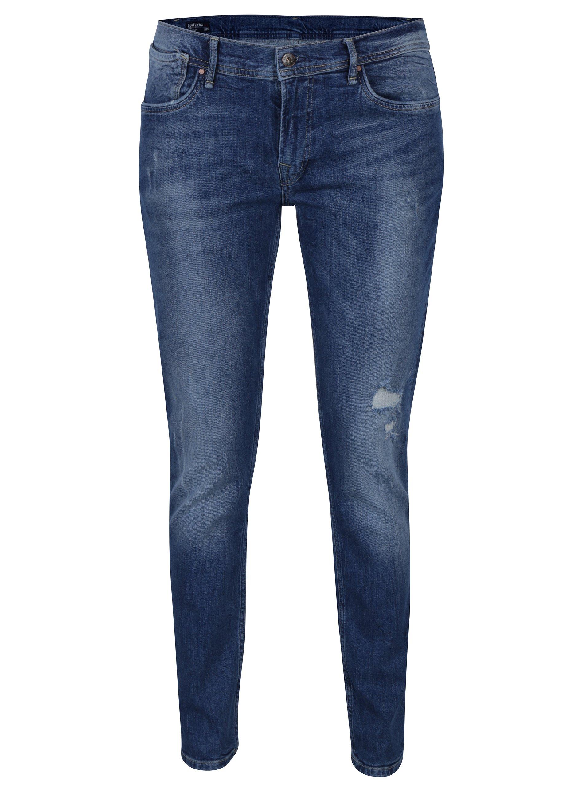 Modré dámské boyfriend džíny Pepe Jeans Joey