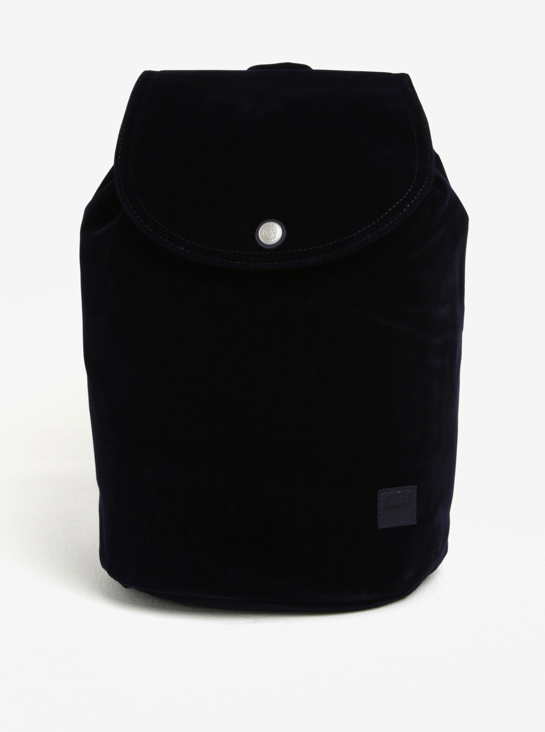Tmavě modrý sametový batoh Herschel Reid 10,5 l