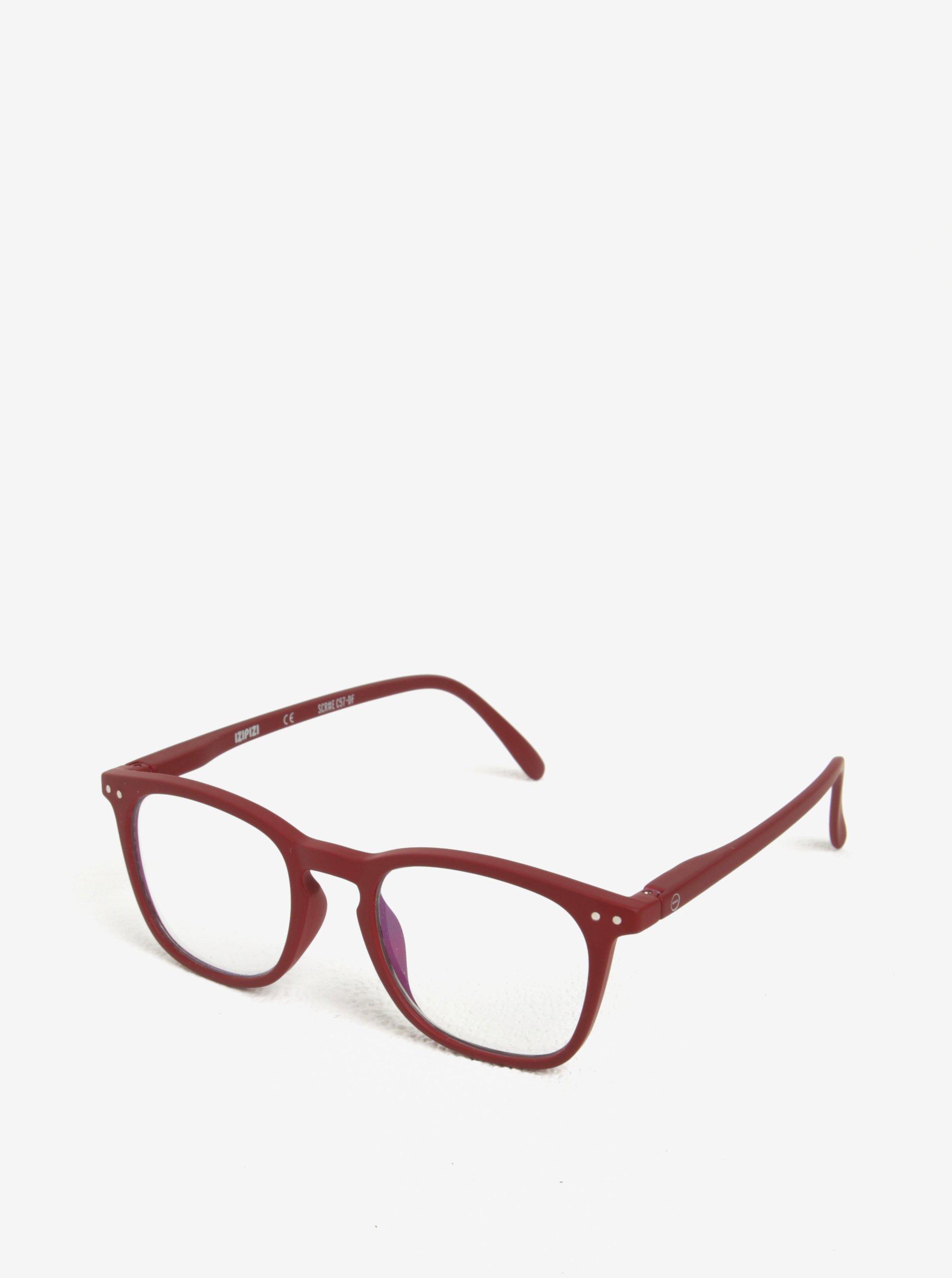 Vínové unisex ochranné brýle k PC IZIPIZI #E