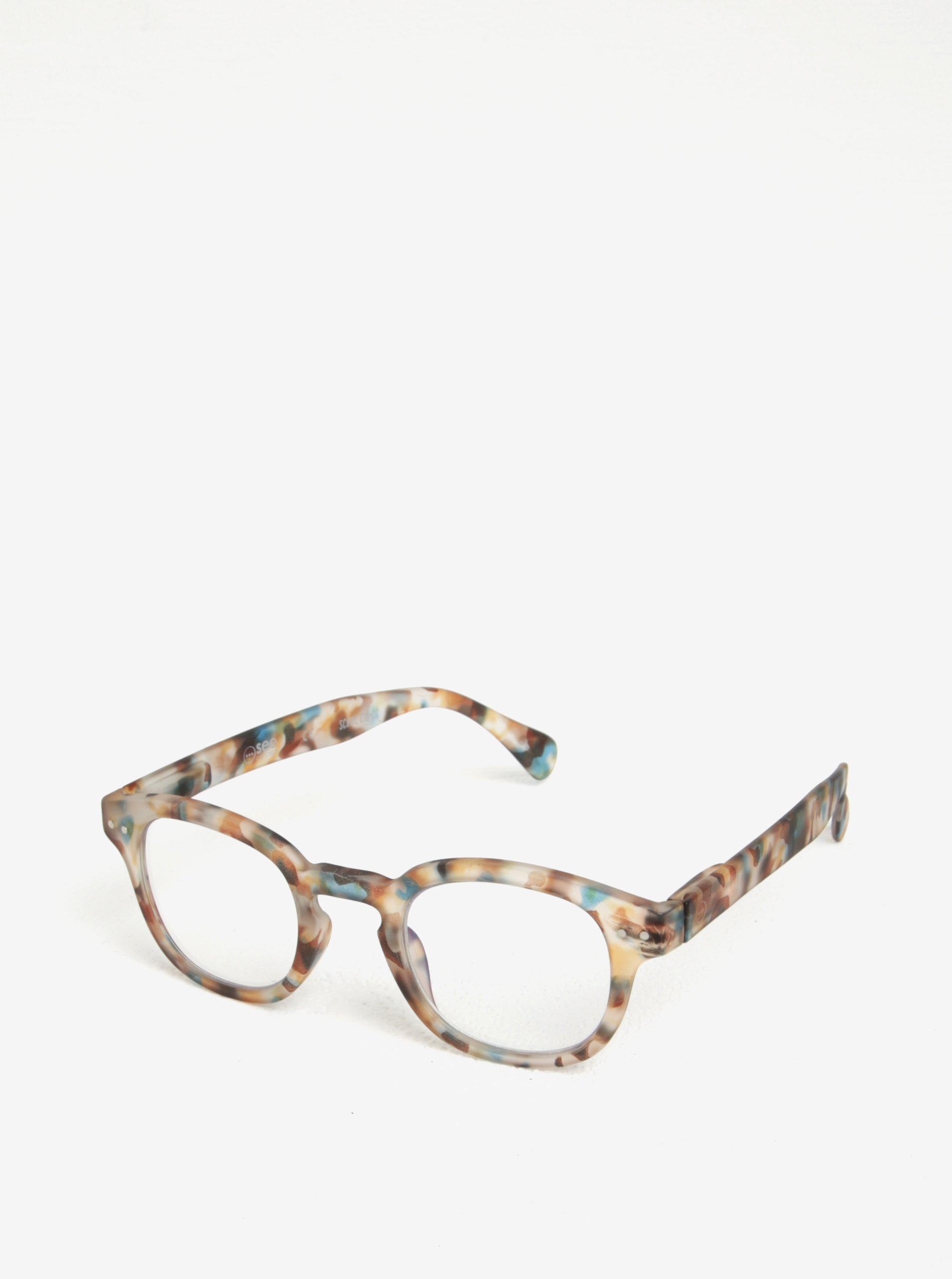 Modro-hnědé maskáčové unisex ochranné brýle k PC IZIPIZI #C