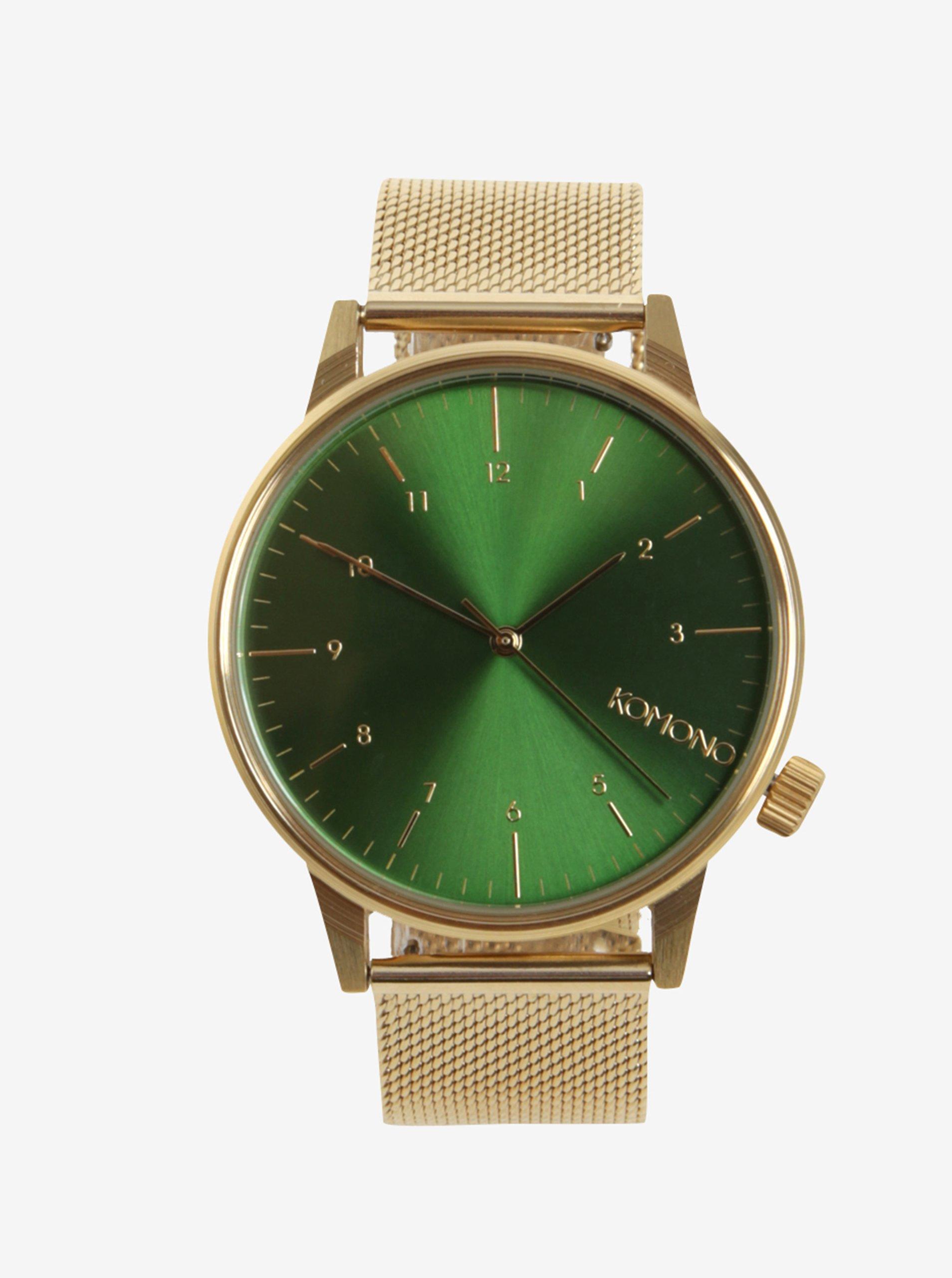 Pánské hodinky ve zlaté barvě Komono Winston Royale