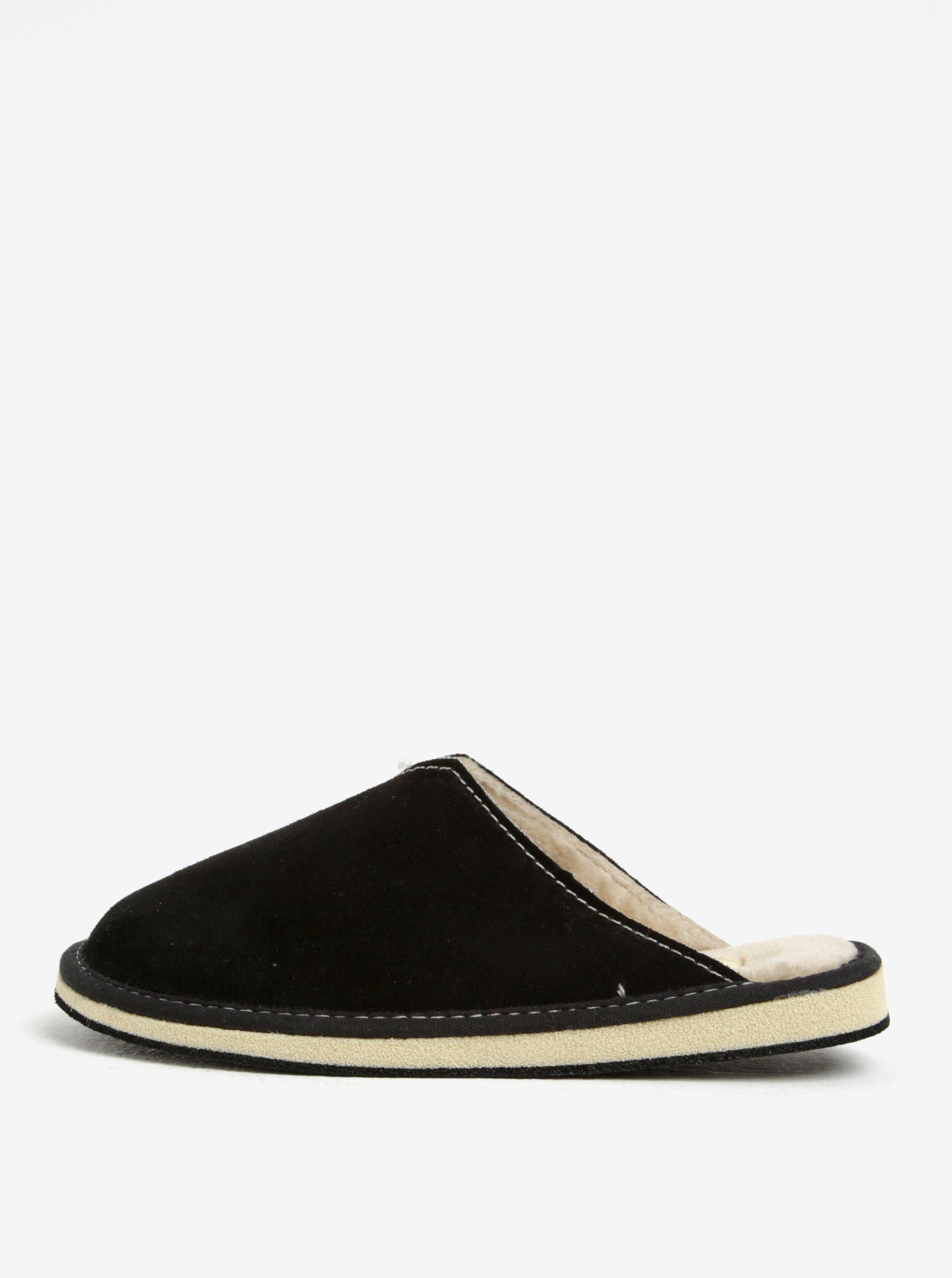 950561e1eca4 Čierne dámske semišové papuče OJJU