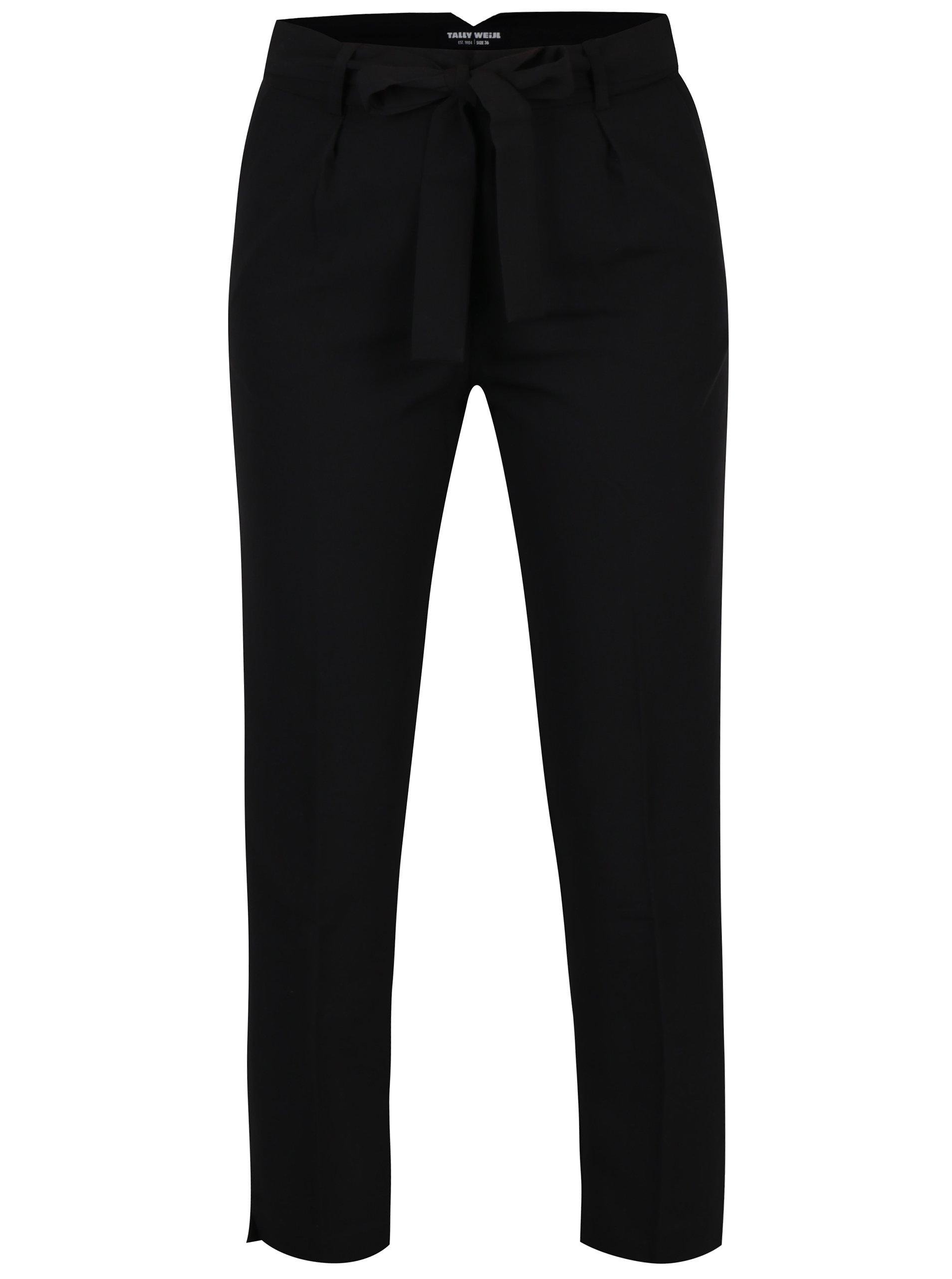 Černé kalhoty s puky a vysokým pasem TALLY WEiJL