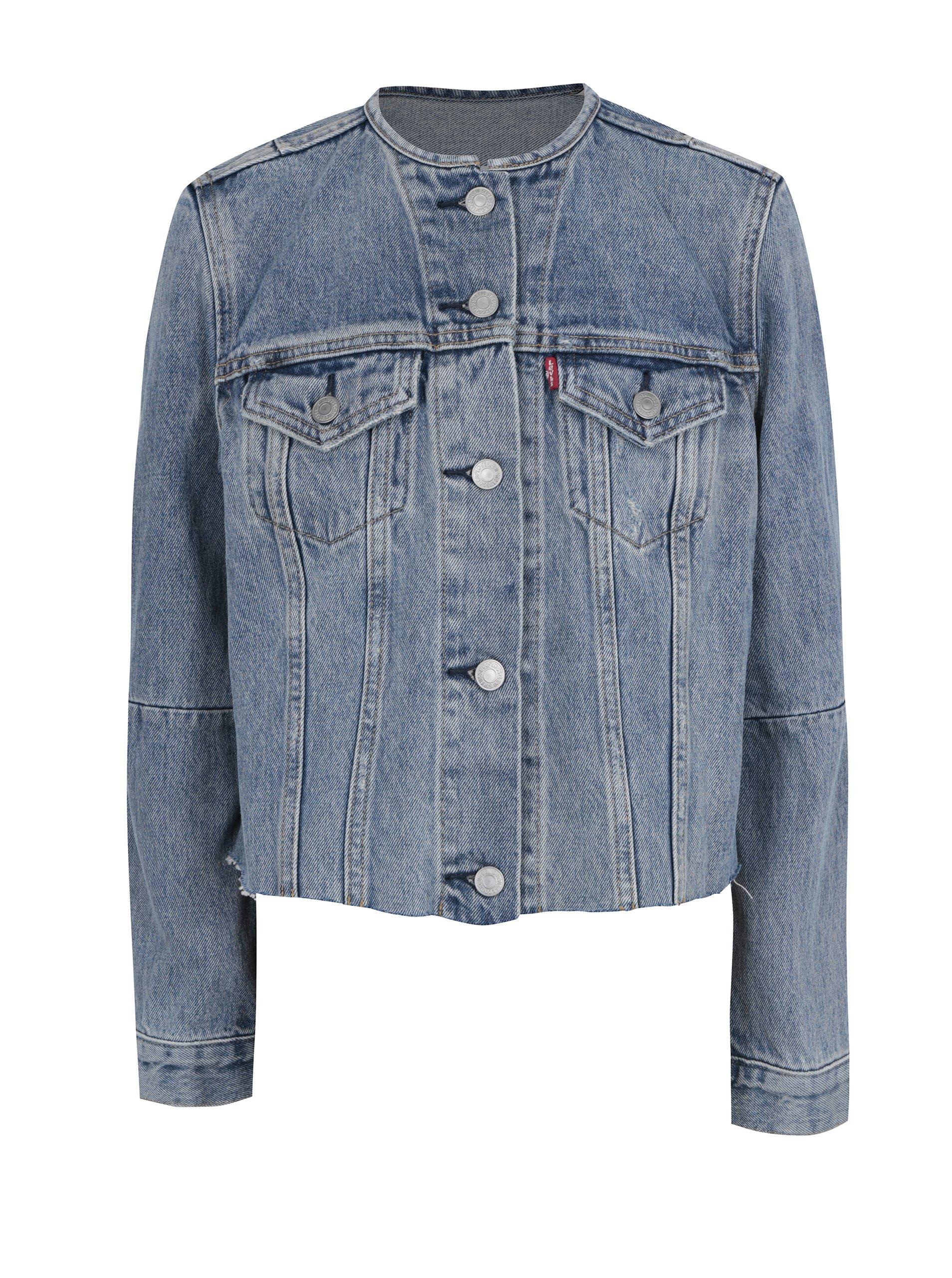 Modrá dámská džínová bunda s roztřepeným spodním lemem Levi's® Better Together