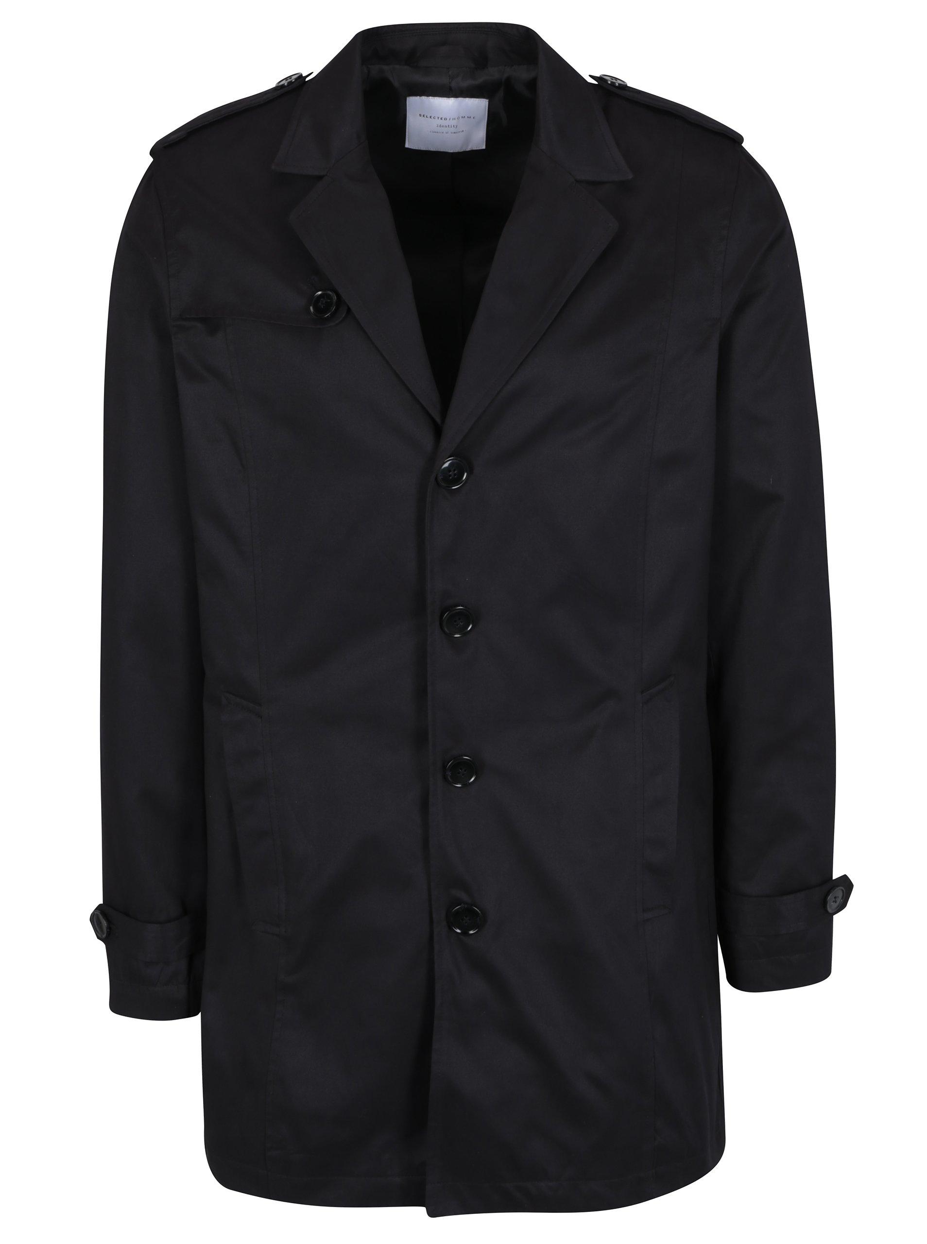 Černý kabát Selected Homme New Adams