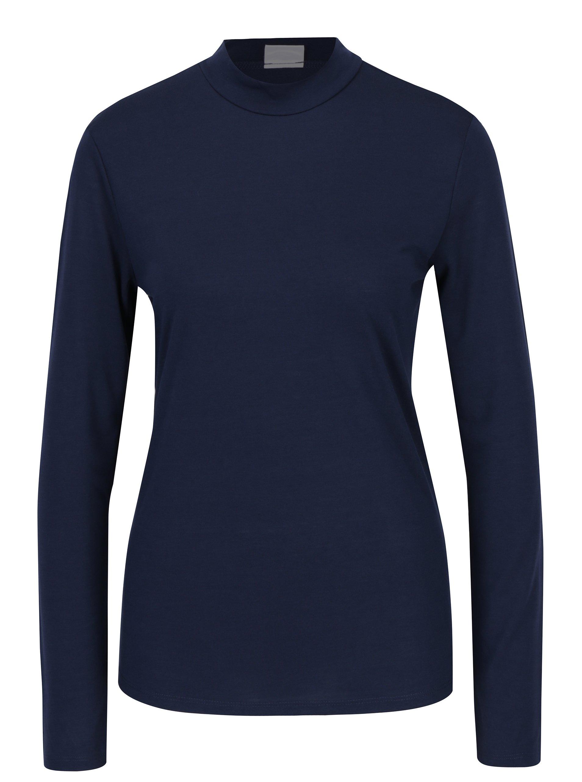 Tmavě modré tričko s nízkým rolákem Jacqueline de Yong Spirit ŽENY   Topy f1f8b2fcf8