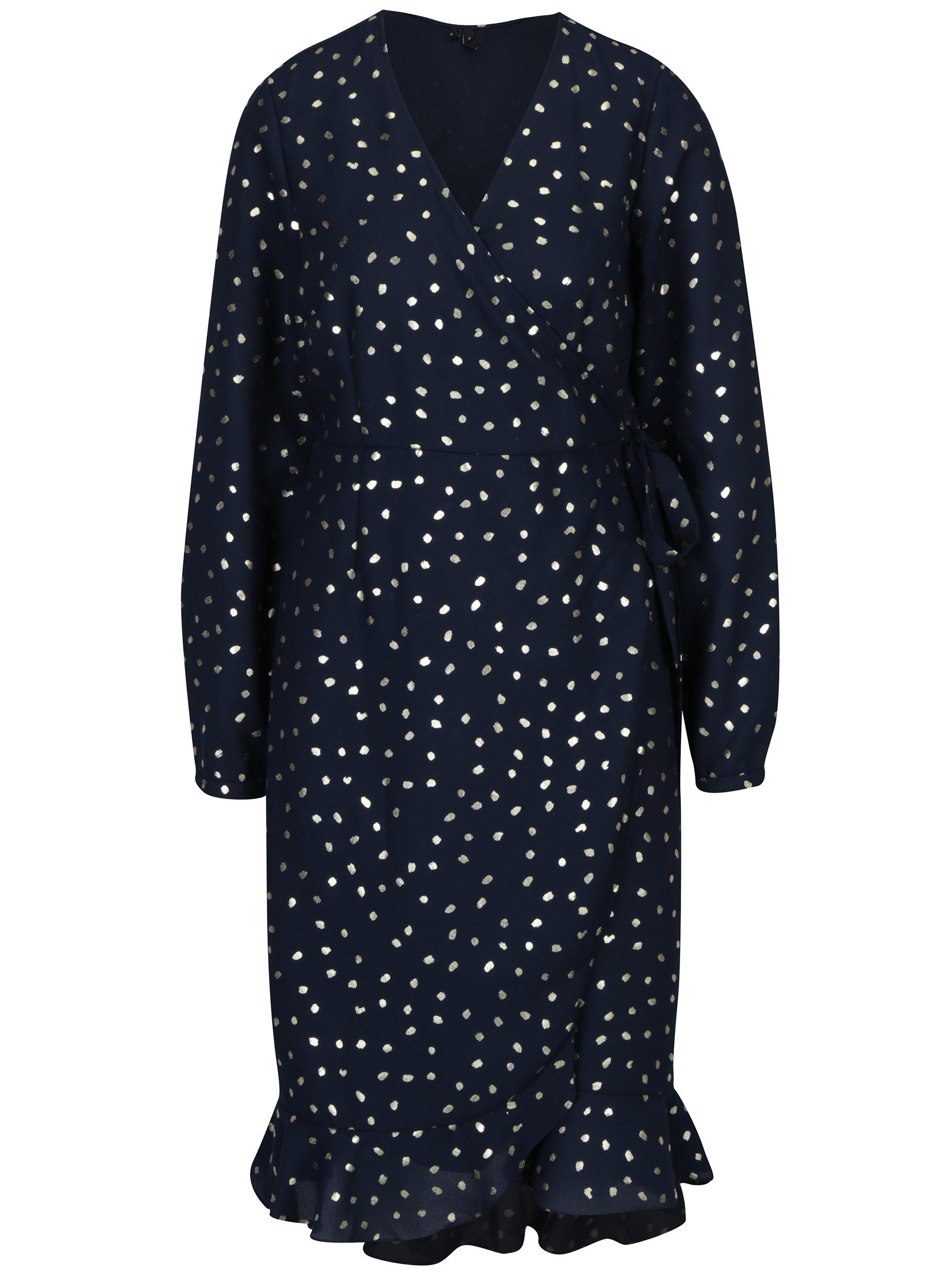 bab196821b03 Tmavomodré zavinovacie šaty VERO MODA Henna