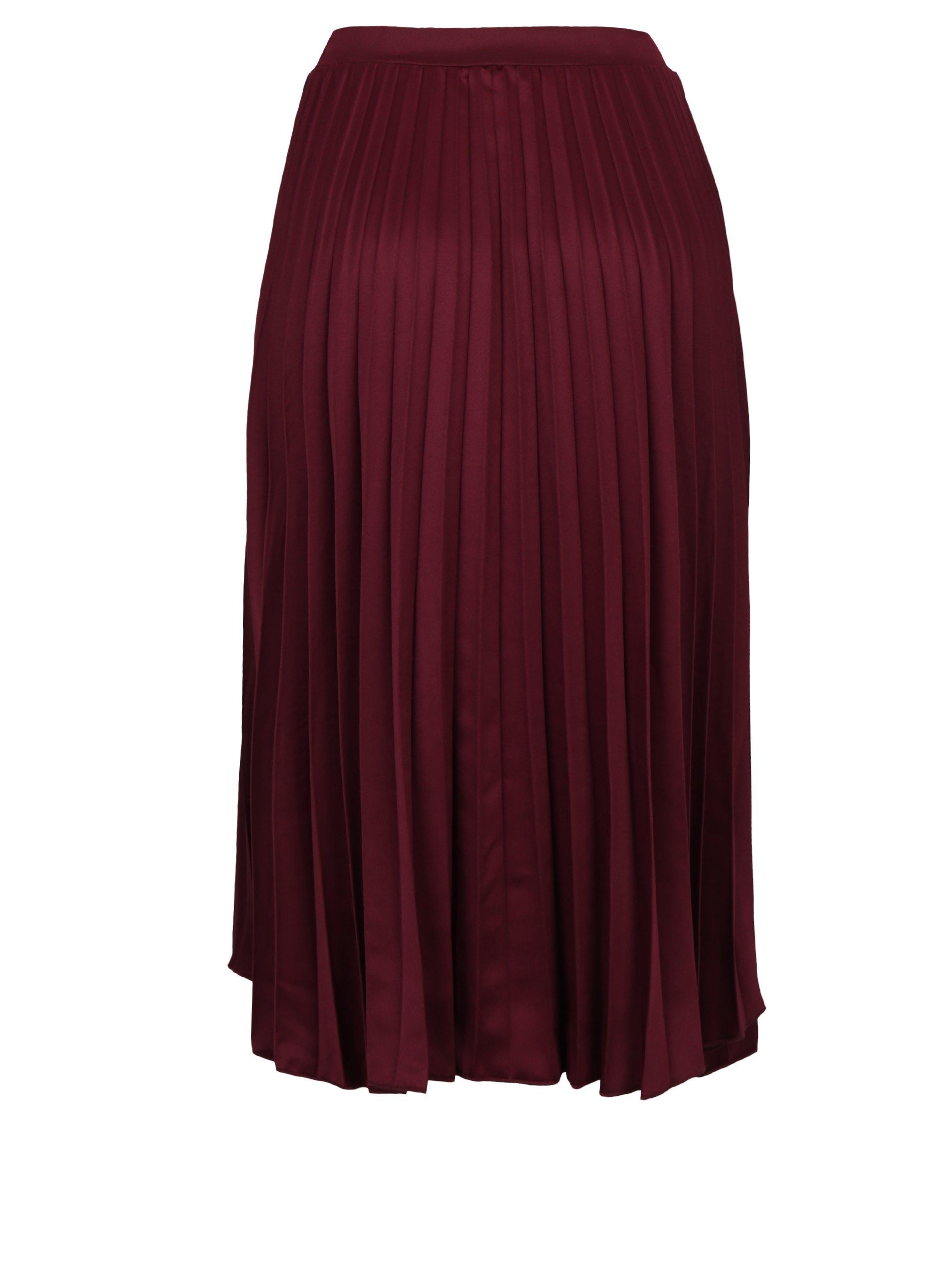85b16b8a1db9 Vínová plisovaná midi sukně ZOOT Vínová plisovaná midi sukně ZOOT ...