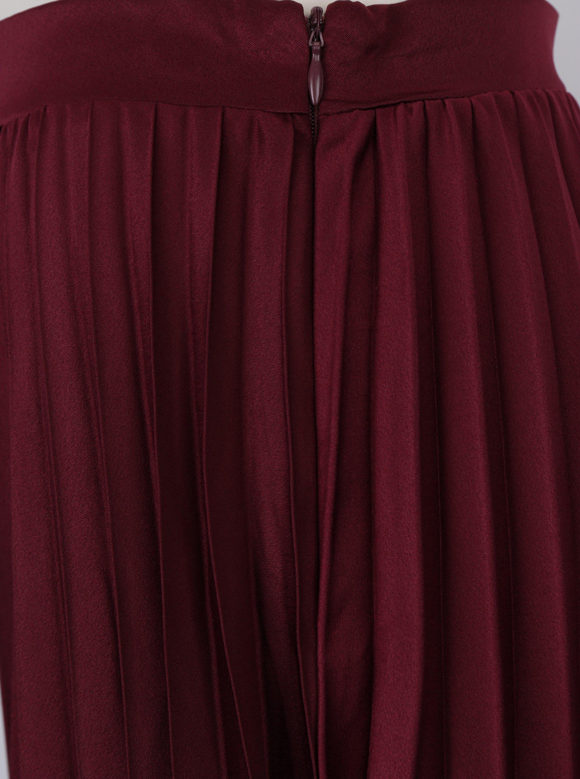 55e861abebd2 Vínová plisovaná midi sukně ZOOT - SLEVA!