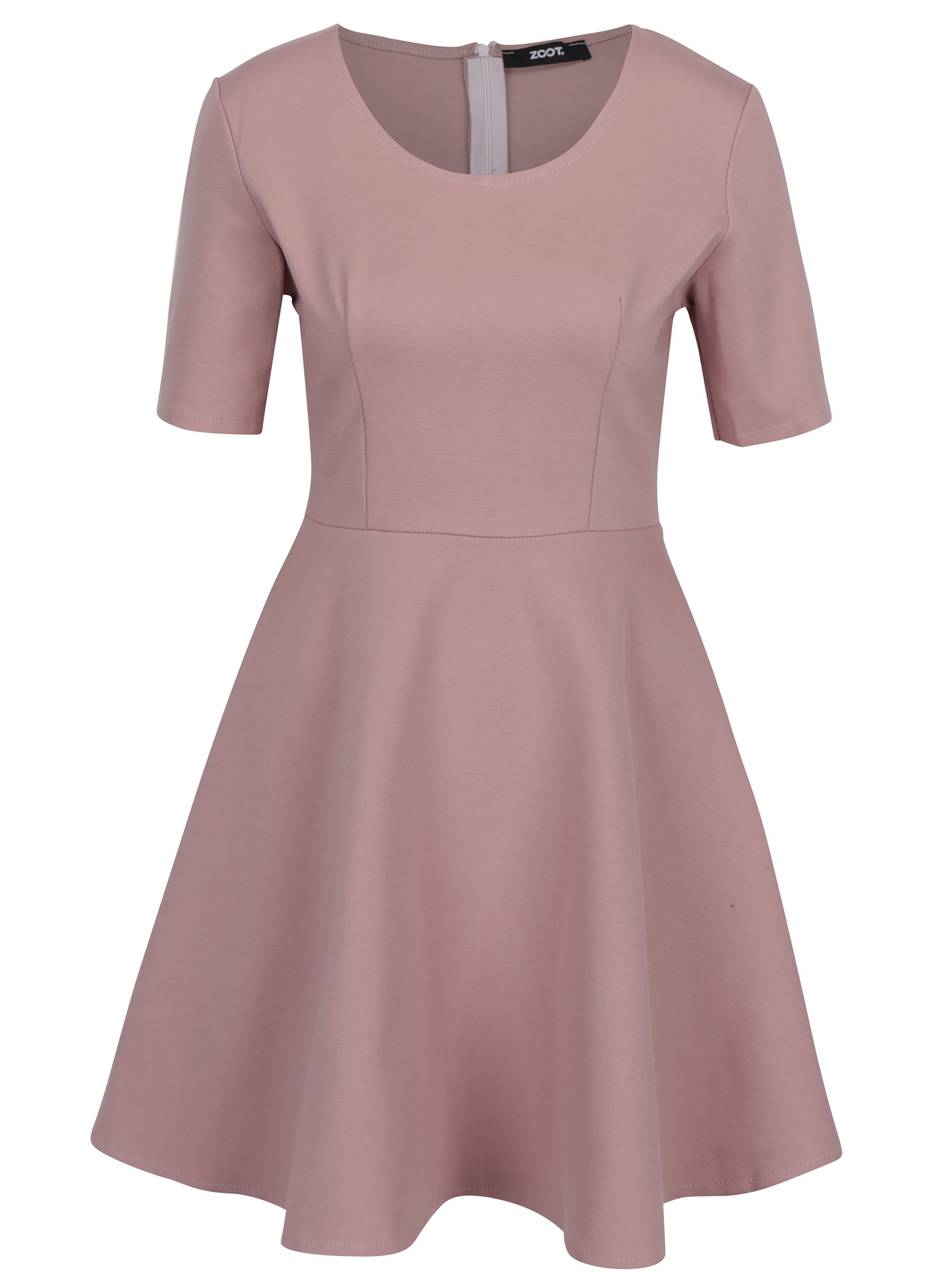 Staroružové šaty s áčkovou sukňou ZOOT