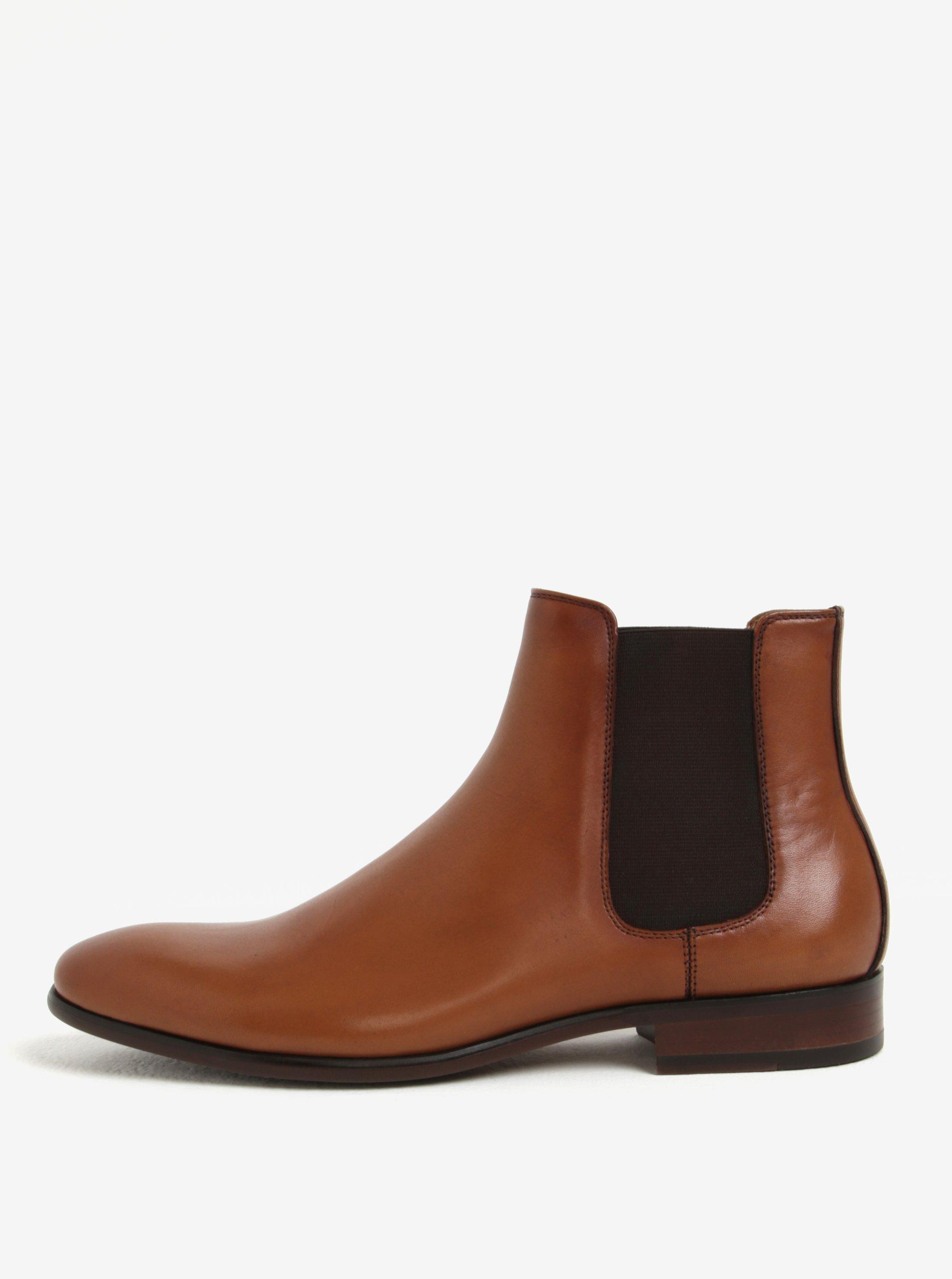 Hnědé pánské kožené chelsea boty ALDO Aradowen