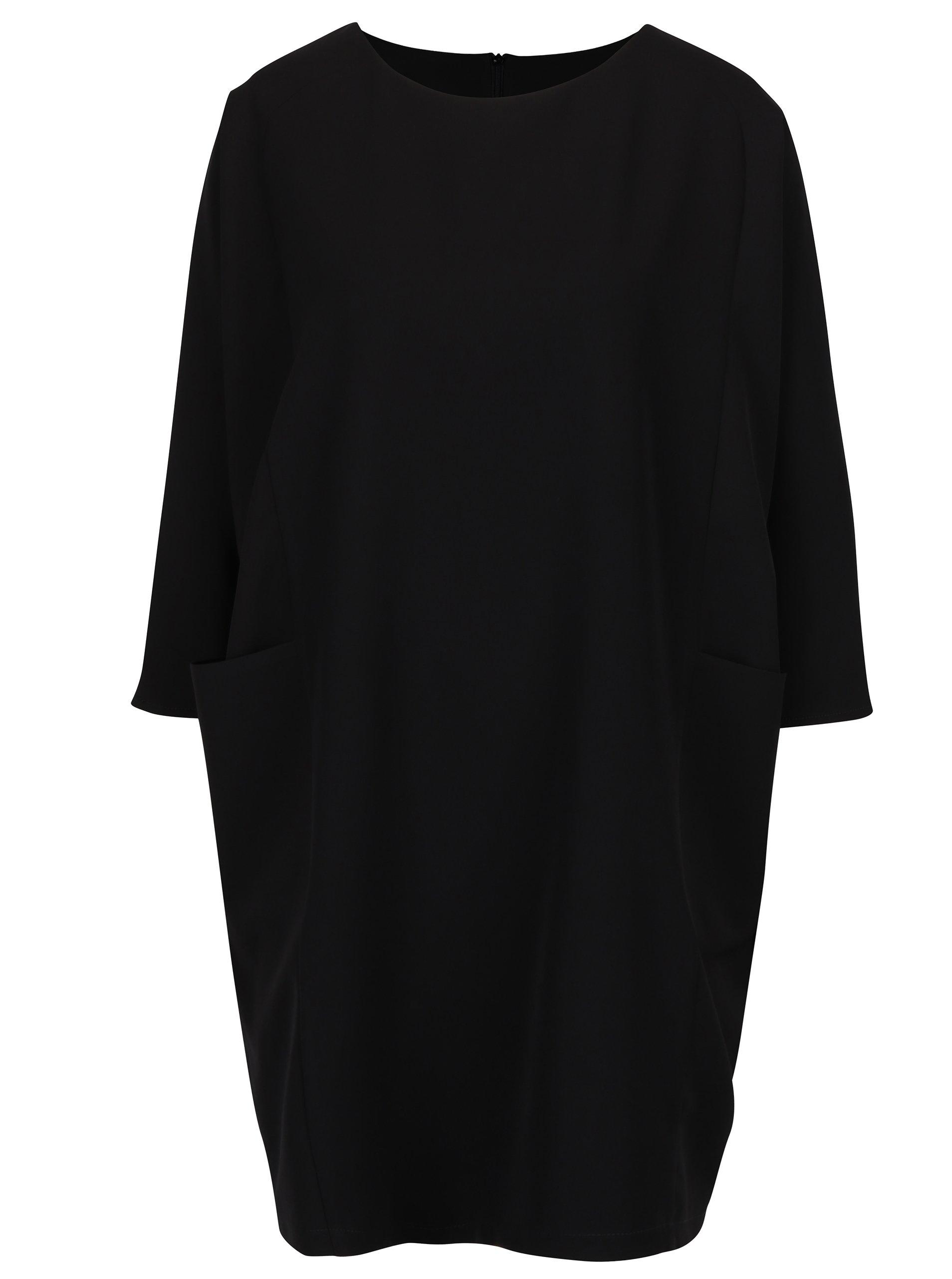 Černé oversize šaty s netopýřími rukávy Bluzat