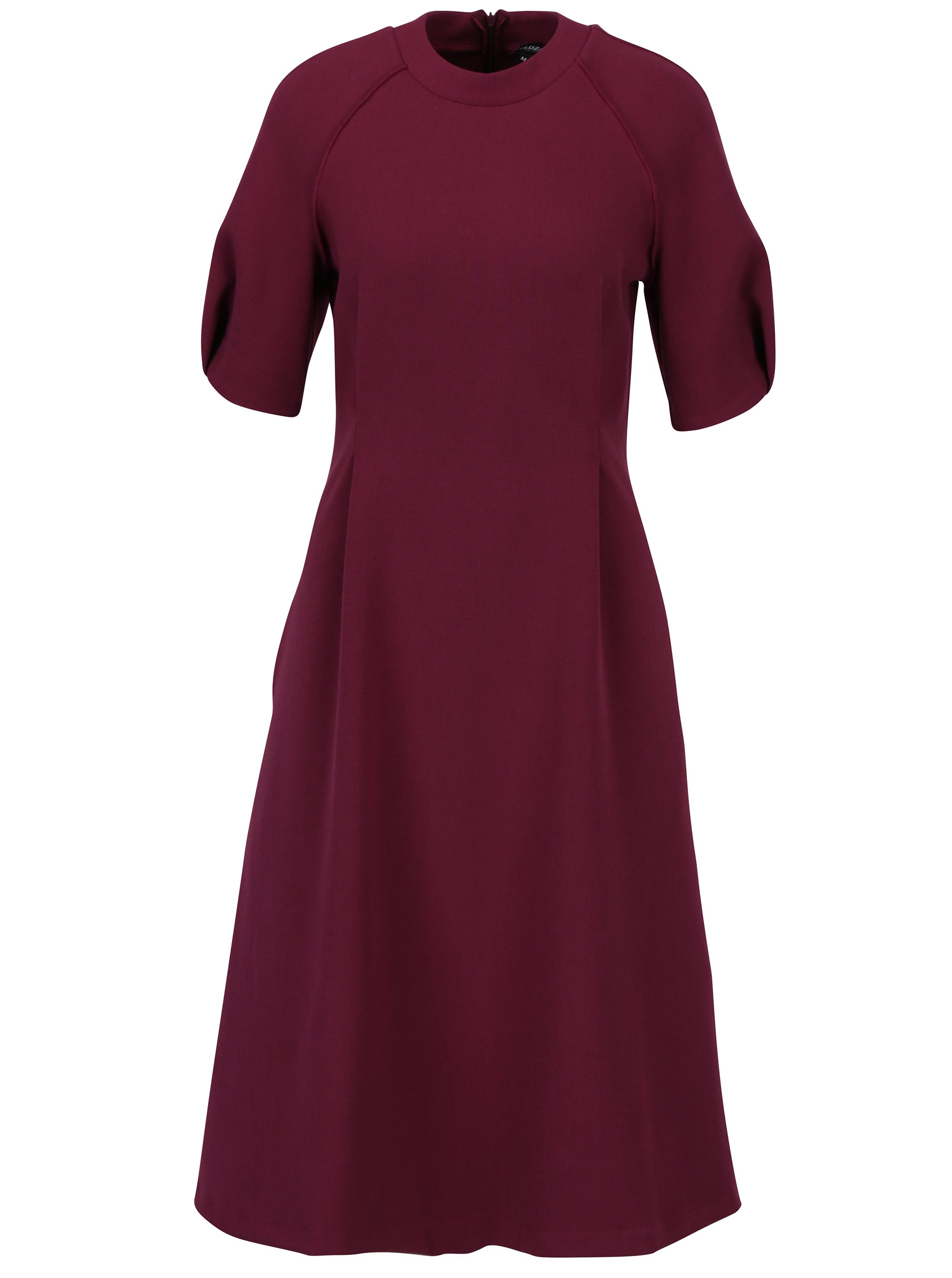 Fialové áčkové šaty s kapsami Bluzat