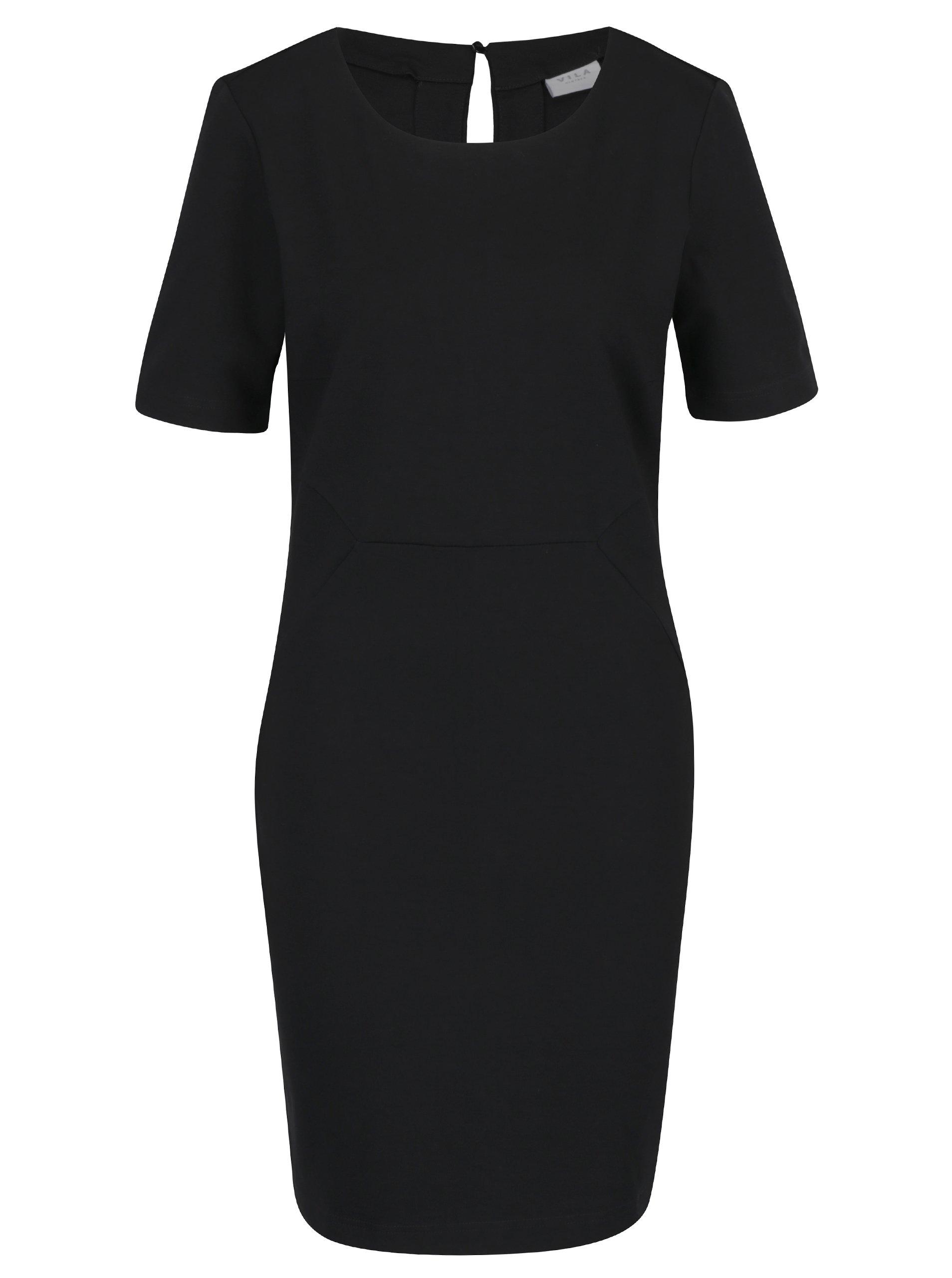 Černé pouzdrové šaty VILA Fellow ca20a2e1b2b