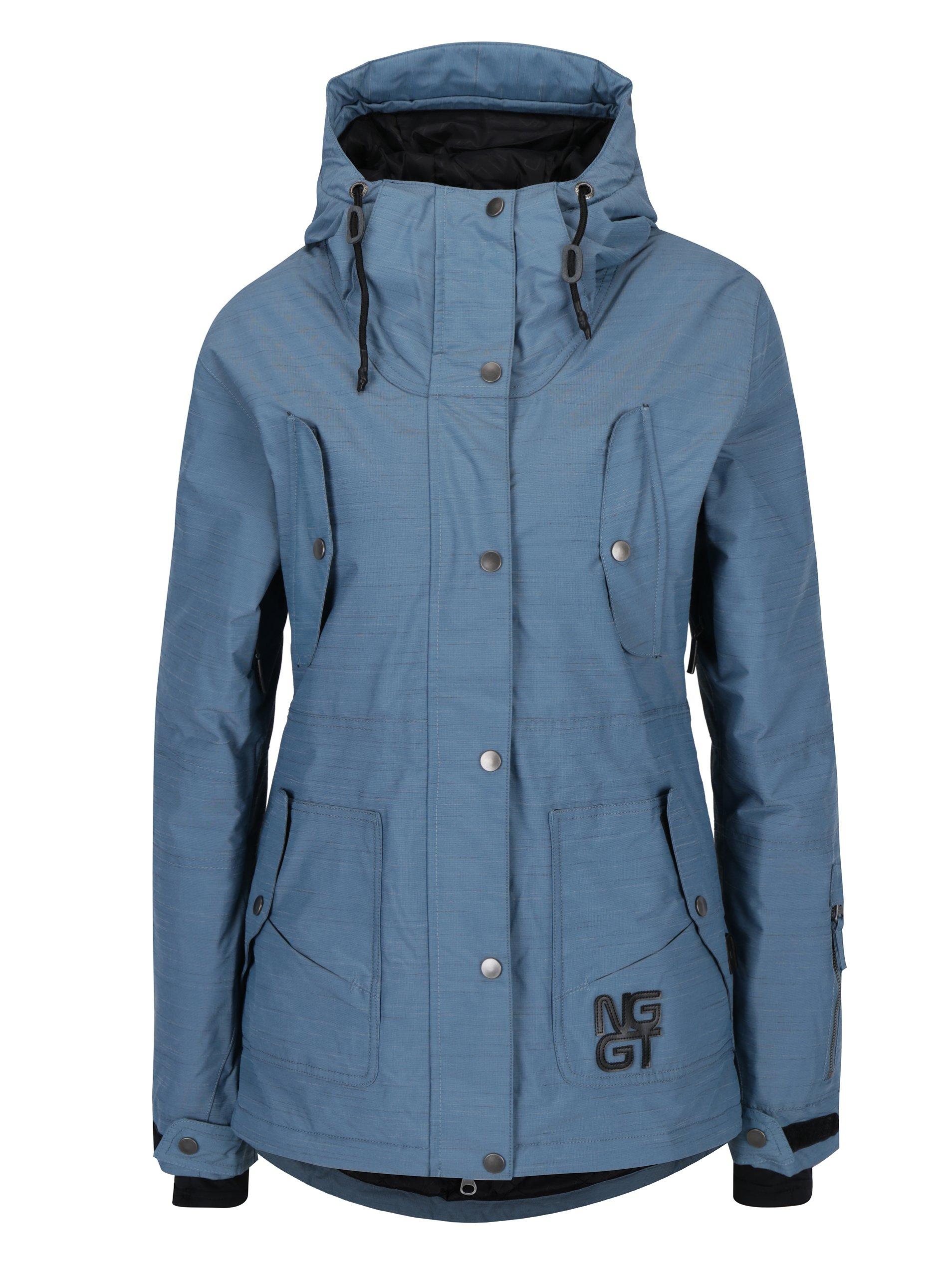 Modrá dámská nepromokavá zimní bunda NUGGET Anja